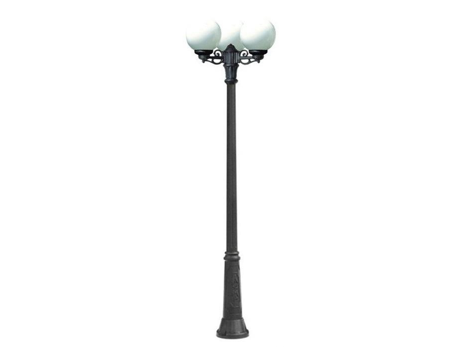 Светильник уличный RICU BISSOУличные наземные светильники<br>Малые шаровые уличные светильники FUMAGALLI  серии GLOBE 250  - изготовлены в Италии. Корпус изготовлен из современного композитного полимера RESIN. Прочного, окрашенного в массе, не ржавеющего и не выгорающего на солнце. Все светильники пыле-влаго защищены по стандарту IP55. В комплекте идут крепежи и закладные элементы. Рассеиватель выполнен из антивандального, не мутнеющего  и не горючего PMMA. Срок службы светильника - не менее 10 лет. Температура использования от +60 до -90. Могут быть в настенном, подвесном и наземном исполнении со столбами разной высоты, разным количеством и конфигурации голов. Столбы выше 150 см имеют в основе мощную стальную трубу с двойной оцинковкой и полимерным наполнителем. При заказе требуется выбрать цвет корпуса, цвет плафона и тип патрона.&amp;lt;div&amp;gt;&amp;lt;br&amp;gt;&amp;lt;/div&amp;gt;&amp;lt;div&amp;gt;&amp;lt;div&amp;gt;Вид цоколя: E27&amp;lt;/div&amp;gt;&amp;lt;div&amp;gt;Мощность: 60W&amp;lt;/div&amp;gt;&amp;lt;div&amp;gt;Количество ламп: 3 (нет в комплекте)&amp;lt;/div&amp;gt;&amp;lt;div&amp;gt;Материал: полимер&amp;lt;/div&amp;gt;&amp;lt;/div&amp;gt;<br><br>Material: Пластик<br>Высота см: 225