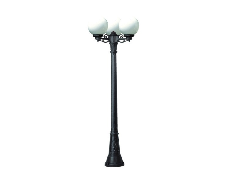 Светильник уличный GIGI BISSOУличные наземные светильники<br>Малые шаровые уличные светильники FUMAGALLI  серии GLOBE 250  - изготовлены в Италии. Корпус изготовлен из современного композитного полимера RESIN. Прочного, окрашенного в массе, не ржавеющего и не выгорающего на солнце. Все светильники пыле-влаго защищены по стандарту IP55. В комплекте идут крепежи и закладные элементы. Рассеиватель выполнен из антивандального, не мутнеющего  и не горючего PMMA. Срок службы светильника - не менее 10 лет. Температура использования от +60 до -90. Могут быть в настенном, подвесном и наземном исполнении со столбами разной высоты, разным количеством и конфигурации голов. Столбы выше 150 см имеют в основе мощную стальную трубу с двойной оцинковкой и полимерным наполнителем. При заказе требуется выбрать цвет корпуса, цвет плафона и тип патрона.&amp;lt;div&amp;gt;&amp;lt;br&amp;gt;&amp;lt;/div&amp;gt;&amp;lt;div&amp;gt;&amp;lt;div&amp;gt;Мощность: 60W&amp;lt;/div&amp;gt;&amp;lt;div&amp;gt;Количество ламп: 3 (нет в комплекте)&amp;lt;/div&amp;gt;&amp;lt;div&amp;gt;Материал: полимер&amp;lt;/div&amp;gt;&amp;lt;/div&amp;gt;<br><br>Material: Пластик<br>Width см: None<br>Height см: 220<br>Diameter см: 62