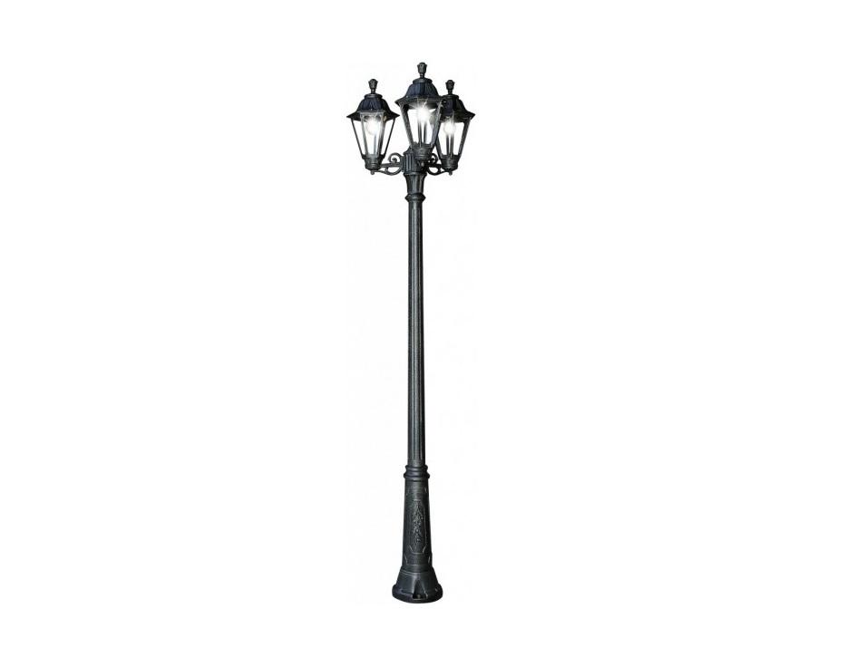 Светильник уличный RICU BISSOУличные наземные светильники<br>Средние уличные шестигранные светильники FUMAGALLI  серии RUT - изготовлены в Италии. Корпус изготовлен из современного композитного полимера RESIN. Прочного, окрашенного в массе, не ржавеющего и не выгорающего на солнце. Все светильники пыле-влаго защищены по стандарту IP55. В комплекте идут крепежи и закладные элементы. Рассеиватель выполнен из антивандального, не мутнеющего  и не горючего PMMA. Срок службы светильника - не менее 10 лет. Температура использования от +60 до -90. Могут быть в настенном, подвесном и наземном исполнении со столбами разной высоты, разным количеством и конфигурации голов. Столбы выше 150 см имеют в основе мощную стальную трубу с двойной оцинковкой и полимерным наполнителем. При заказе требуется выбрать цвет корпуса, цвет плафона и тип патрона.<br>Вид цоколя: E27<br>Мощность: 60W<br>Количество ламп: 3 (нет в комплекте)<br>Материал: полимер<br><br><br>kit: None<br>gender: None