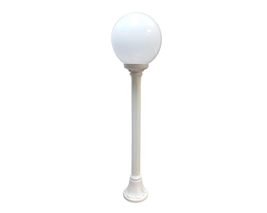 Светильник уличный MIZAR.RУличные наземные светильники<br>Малые шаровые уличные светильники FUMAGALLI  серии GLOBE 250  - изготовлены в Италии. Корпус изготовлен из современного композитного полимера RESIN. Прочного, окрашенного в массе, не ржавеющего и не выгорающего на солнце. Все светильники пыле-влаго защищены по стандарту IP55. В комплекте идут крепежи и закладные элементы. Рассеиватель выполнен из антивандального, не мутнеющего  и не горючего PMMA. Срок службы светильника - не менее 10 лет. Температура использования от +60 до -90. Могут быть в настенном, подвесном и наземном исполнении со столбами разной высоты, разным количеством и конфигурации голов. Столбы выше 150 см имеют в основе мощную стальную трубу с двойной оцинковкой и полимерным наполнителем. При заказе требуется выбрать цвет корпуса, цвет плафона и тип патрона.&amp;lt;div&amp;gt;&amp;lt;br&amp;gt;&amp;lt;/div&amp;gt;&amp;lt;div&amp;gt;&amp;lt;div&amp;gt;Вид цоколя: E27&amp;lt;/div&amp;gt;&amp;lt;div&amp;gt;Мощность: 60W&amp;lt;/div&amp;gt;&amp;lt;div&amp;gt;Количество ламп: 1 (нет в комплекте)&amp;lt;/div&amp;gt;&amp;lt;div&amp;gt;Материал: полимер&amp;lt;/div&amp;gt;&amp;lt;/div&amp;gt;<br><br>Material: Пластик<br>Height см: 100<br>Diameter см: 25