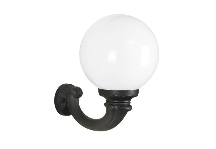 Светильник уличный OFIRУличные настенные светильники<br>Средние шаровые уличные светильники FUMAGALLI  серии GLOBE 300  - изготовлены в Италии. Корпус изготовлен из современного композитного полимера RESIN. Прочного, окрашенного в массе, не ржавеющего и не выгорающего на солнце. Все светильники пыле-влаго защищены по стандарту IP55. В комплекте идут крепежи и закладные элементы. Рассеиватель выполнен из антивандального, не мутнеющего  и не горючего PMMA. Срок службы светильника - не менее 10 лет. Температура использования от +60 до -90. Могут быть в настенном, подвесном и наземном исполнении со столбами разной высоты, разным количеством и конфигурации голов. Столбы выше 150 см имеют в основе мощную стальную трубу с двойной оцинковкой и полимерным наполнителем. При заказе требуется выбрать цвет корпуса, цвет плафона и тип патрона.&amp;lt;div&amp;gt;&amp;lt;br&amp;gt;&amp;lt;/div&amp;gt;&amp;lt;div&amp;gt;&amp;lt;div&amp;gt;Вид цоколя: E27&amp;lt;/div&amp;gt;&amp;lt;div&amp;gt;Мощность: 75W&amp;lt;/div&amp;gt;&amp;lt;div&amp;gt;Количество ламп: 1 (нет в комплекте)&amp;lt;/div&amp;gt;&amp;lt;div&amp;gt;Материал: полимер&amp;lt;/div&amp;gt;&amp;lt;/div&amp;gt;<br><br>Material: Пластик<br>Depth см: None<br>Height см: 40<br>Diameter см: 37.5