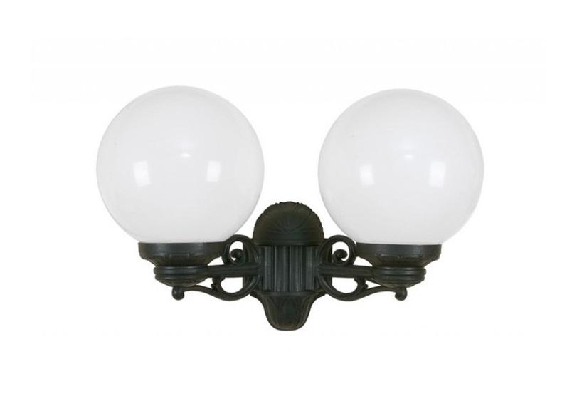 Светильник уличный PORPORAУличные настенные светильники<br>Малые шаровые уличные светильники FUMAGALLI  серии GLOBE 250  - изготовлены в Италии. Корпус изготовлен из современного композитного полимера RESIN. Прочного, окрашенного в массе, не ржавеющего и не выгорающего на солнце. Все светильники пыле-влаго защищены по стандарту IP55. В комплекте идут крепежи и закладные элементы. Рассеиватель выполнен из антивандального, не мутнеющего  и не горючего PMMA. Срок службы светильника - не менее 10 лет. Температура использования от +60 до -90. Могут быть в настенном, подвесном и наземном исполнении со столбами разной высоты, разным количеством и конфигурации голов. Столбы выше 150 см имеют в основе мощную стальную трубу с двойной оцинковкой и полимерным наполнителем. При заказе требуется выбрать цвет корпуса, цвет плафона и тип патрона.&amp;lt;div&amp;gt;&amp;lt;br&amp;gt;&amp;lt;/div&amp;gt;&amp;lt;div&amp;gt;&amp;lt;div&amp;gt;Вид цоколя: E27&amp;lt;/div&amp;gt;&amp;lt;div&amp;gt;Мощность: 60W&amp;lt;/div&amp;gt;&amp;lt;div&amp;gt;Количество ламп: 2 (нет в комплекте)&amp;lt;/div&amp;gt;&amp;lt;div&amp;gt;Материал: полимер&amp;lt;/div&amp;gt;&amp;lt;/div&amp;gt;<br><br>Material: Пластик<br>Высота см: 37