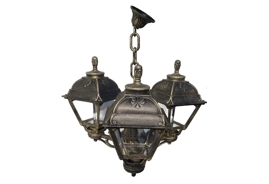 Светильник уличный SICHEMУличные подвесные и потолочные светильники<br>Средние уличные квадратные светильники FUMAGALLI  серии CEFA - изготовлены в Италии. Корпус изготовлен из современного композитного полимера RESIN. Прочного, окрашенного в массе, не ржавеющего и не выгорающего на солнце. Все светильники пыле-влаго защищены по стандарту IP55. В комплекте идут крепежи и закладные элементы. Рассеиватель выполнен из антивандального, не мутнеющего  и не горючего PMMA. Срок службы светильника - не менее 10 лет. Температура использования от +60 до -90. Могут быть в настенном, подвесном и наземном исполнении со столбами разной высоты, разным количеством и конфигурации голов. Столбы выше 150 см имеют в основе мощную стальную трубу с двойной оцинковкой и полимерным наполнителем. При заказе требуется выбрать цвет корпуса, цвет плафона и тип патрона.&amp;lt;div&amp;gt;&amp;lt;br&amp;gt;&amp;lt;/div&amp;gt;&amp;lt;div&amp;gt;&amp;lt;div&amp;gt;Вид цоколя: E27&amp;lt;/div&amp;gt;&amp;lt;div&amp;gt;Мощность: 60W&amp;lt;/div&amp;gt;&amp;lt;div&amp;gt;Количество ламп: 3 (нет в комплекте)&amp;lt;/div&amp;gt;&amp;lt;div&amp;gt;Материал: полимер&amp;lt;/div&amp;gt;&amp;lt;/div&amp;gt;<br><br>Material: Пластик<br>Width см: None<br>Height см: 69<br>Diameter см: 77