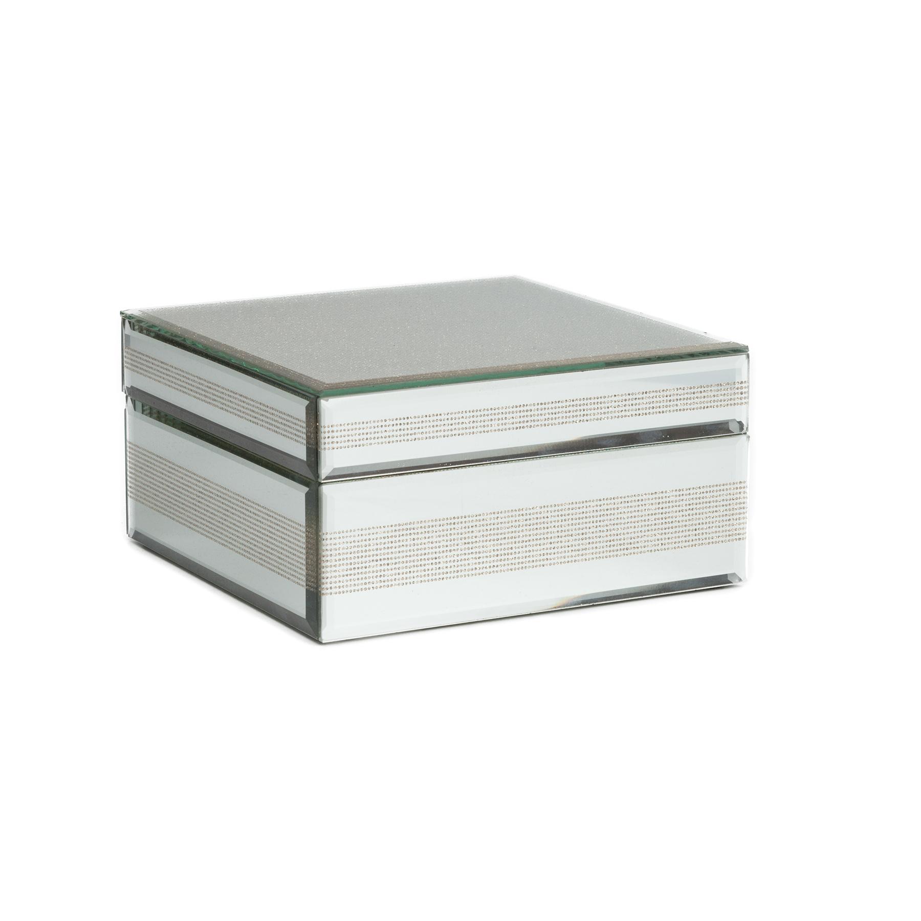 Зеркальная декоративная коробка AntiquedКоробки<br>Материал: МДФ, Зеркало<br><br>Material: МДФ<br>Length см: None<br>Width см: 18<br>Depth см: 18<br>Height см: 9