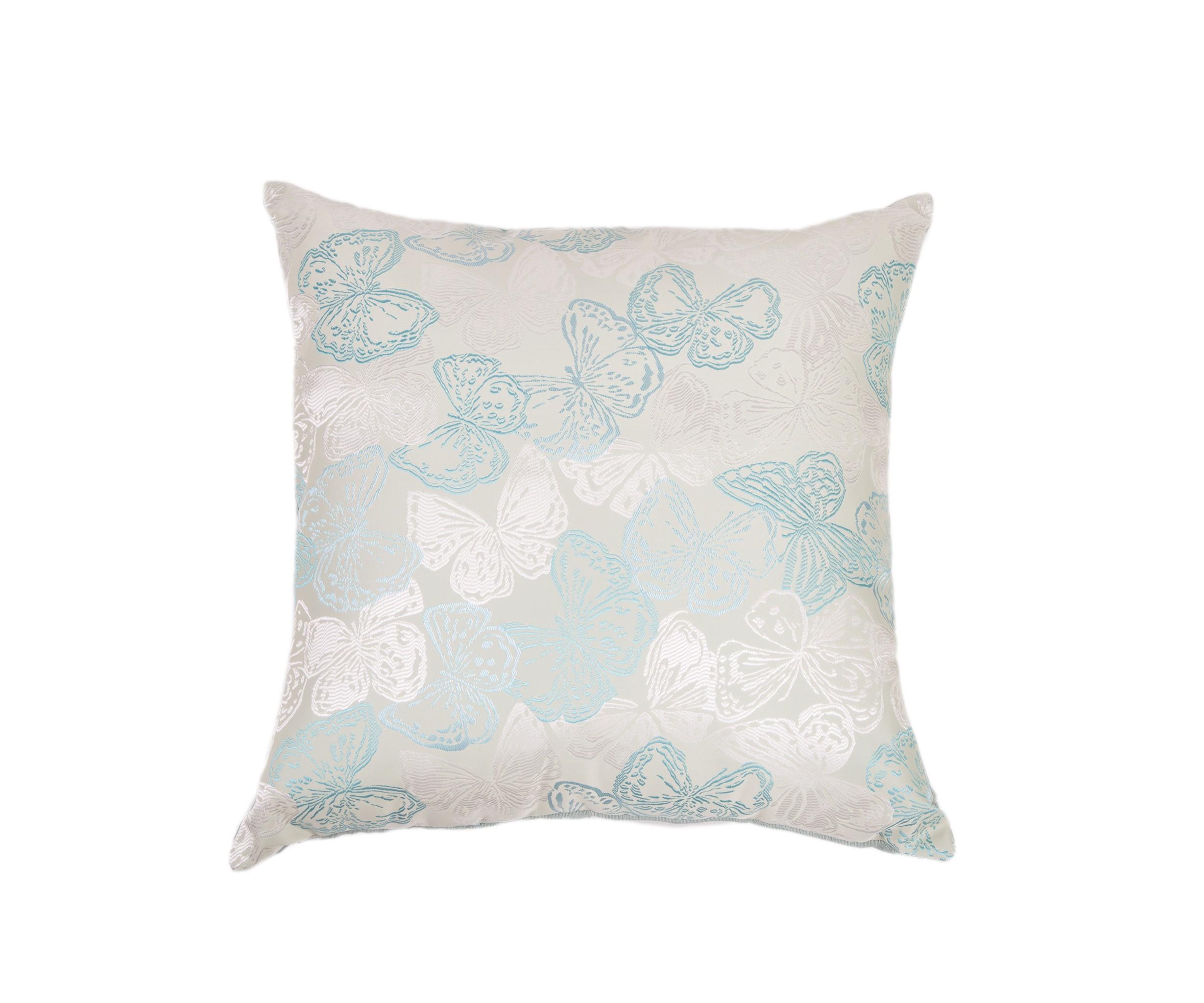 Подушка Зеленые бабочкиКвадратные подушки и наволочки<br>Двусторонняя декоративная подушка &amp;quot;Зеленые бабочки&amp;quot; станет ярким акцентом в вашем интерьере. На одной стороне принт с красочными бабочками сочно-изумрудных и золотистых  тонов, на другой стороне - нежный велюр сделают пространство комнаты веселым и радостным.  Высококачественный материал приятен для кожи и безопасен даже для самой чувствительной кожи.  Оригинальный дизайнерский принт сделает пространство стильным и своеобразным.  Красивый рисунок на ткани станет ярким акцентом в вашем декоре.<br><br>Material: Текстиль<br>Length см: None<br>Width см: 55<br>Depth см: 10<br>Height см: 55