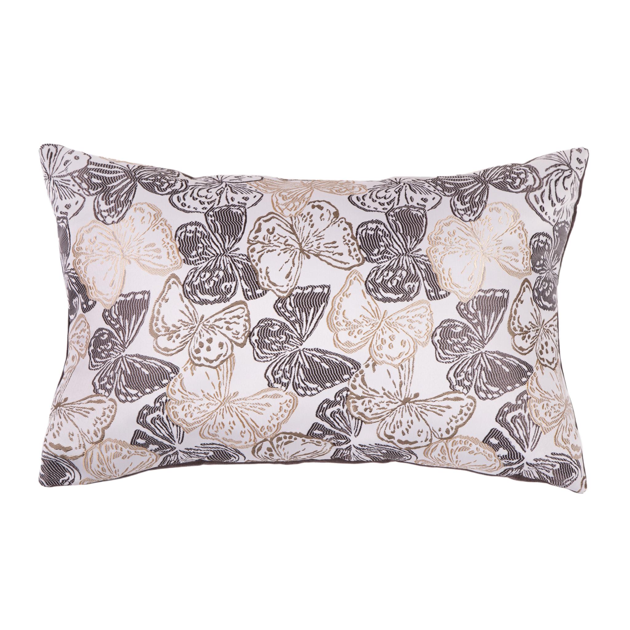 Подушка Шоколадные бабочкиПрямоугольные подушки и наволочки<br>Двусторонняя декоративная подушка &amp;quot;Шоколадные бабочки&amp;quot; станет ярким акцентом в вашем интерьере. На одной стороне принт с красочными бабочками солнечных тонов, на другой стороне - нежный велюр сделают пространство комнаты веселым и радостным.  Высококачественный материал приятен для кожи и безопасен даже для самой чувствительной кожи.  Оригинальный дизайнерский принт сделает пространство стильным и своеобразным.  Красивый рисунок на ткани станет ярким акцентом в вашем декоре.<br><br>Material: Текстиль<br>Ширина см: 60<br>Высота см: 40<br>Глубина см: 10