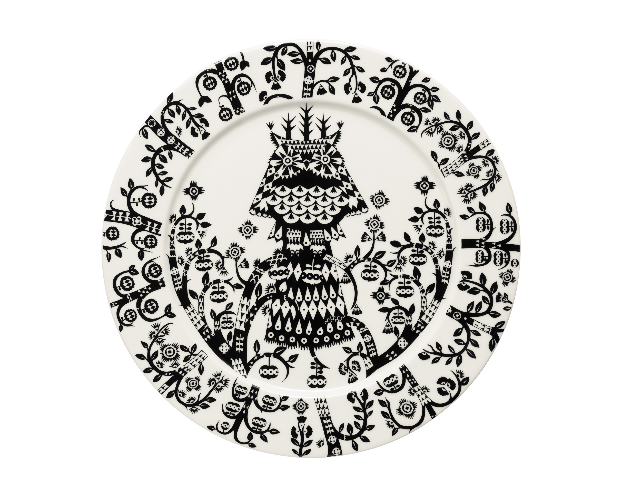Тарелка TaikaТарелки<br>На финском языке Taika означает «волшебство». Знаменитый финиский дизайнер и иллюстратор Klaus Haapaniemi хочет, чтобы его иллюстрации дали толчок вашему воображению. В сочетании с другими сериями Iittala, Taika позволяет прикоснуться к миру фантазии, впустить волшебство в нашу повседневную жизнь.<br><br>Material: Фарфор<br>Высота см: 1