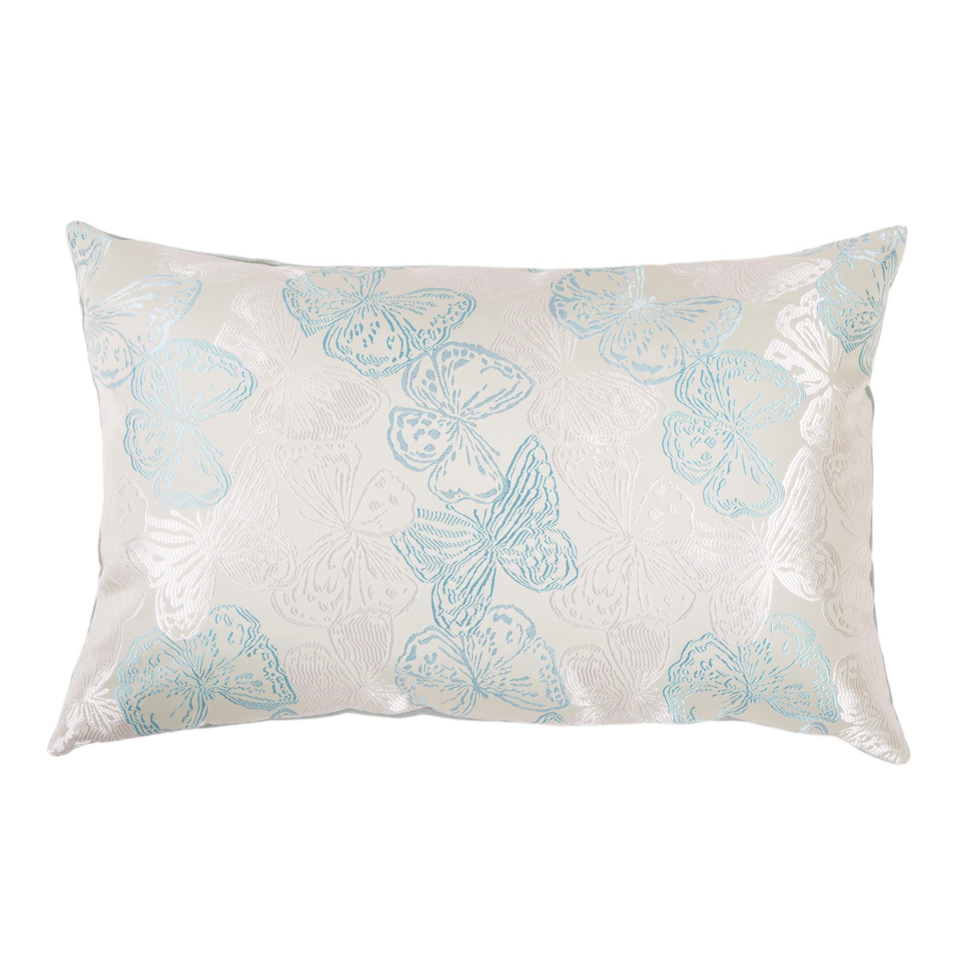 Подушка Зеленые бабочкиПрямоугольные подушки и наволочки<br>Двусторонняя декоративная подушка &amp;quot;Зеленые бабочки&amp;quot; станет ярким акцентом в вашем интерьере. На одной стороне принт с красочными бабочками сочно-изумрудных и золотистых  тонов, на другой стороне - нежный велюр сделают пространство комнаты веселым и радостным.  Высококачественный материал приятен для кожи и безопасен даже для самой чувствительной кожи.  Оригинальный дизайнерский принт сделает пространство стильным и своеобразным.  Красивый рисунок на ткани станет ярким акцентом в вашем декоре.<br><br>Material: Текстиль<br>Length см: None<br>Width см: 50<br>Depth см: 10<br>Height см: 30