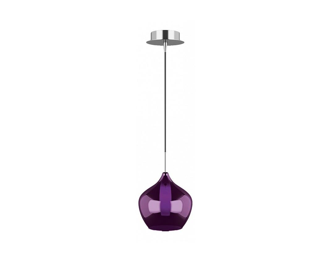 Подвесной светильник pentola (lightstar) фиолетовый 30 см. фото