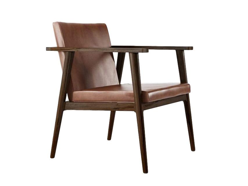 Кресло Vintage VBКожаные кресла<br>Каркас изготовлена из американского чёрного ореха. Подушки сиденья и спинки – из натуральной кожи Vintage Brown.&amp;amp;nbsp;<br><br>Material: Орех<br>Ширина см: 60<br>Высота см: 75<br>Глубина см: 64