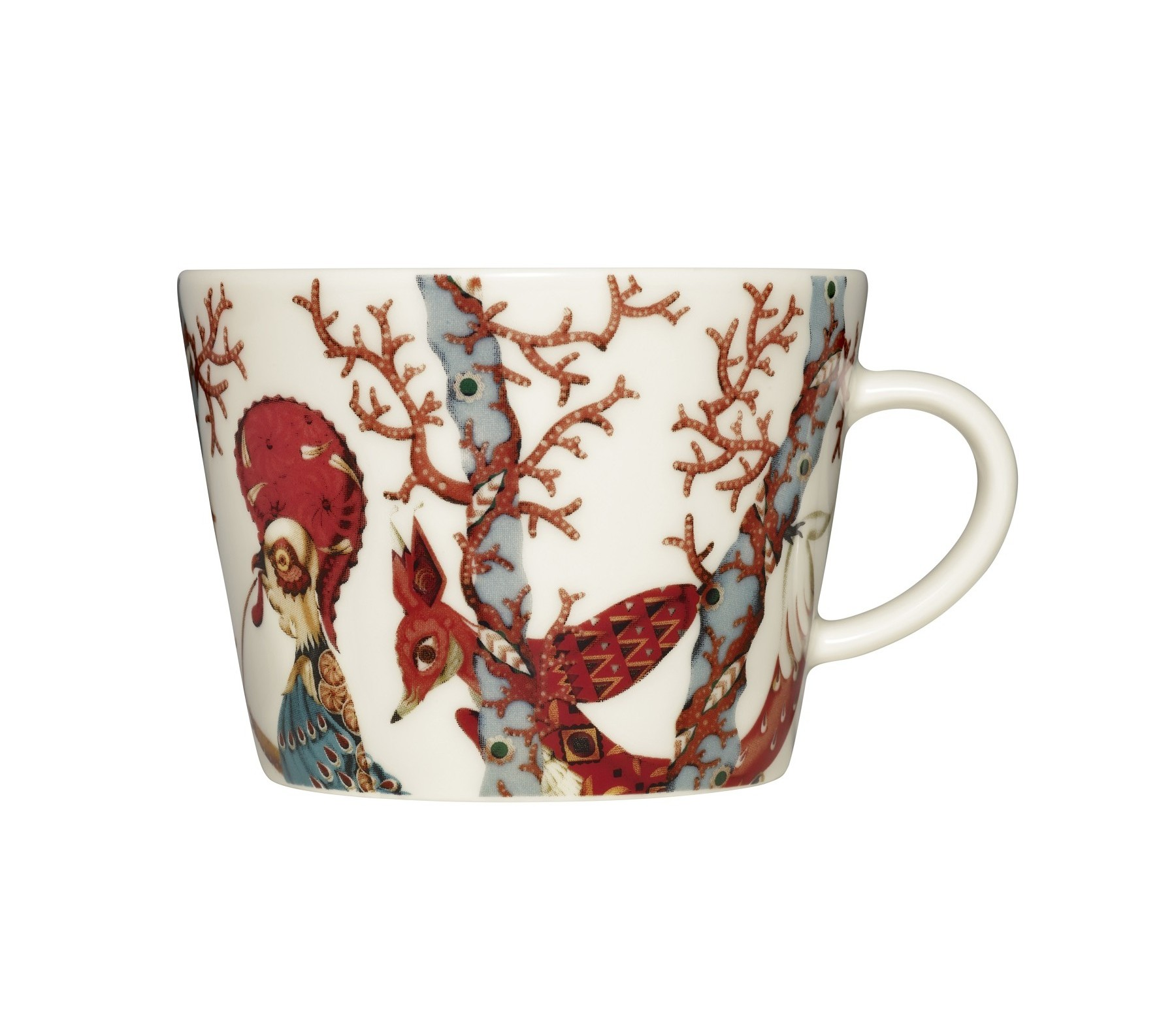 Чашка для кофе TanssiЧайные пары и чашки<br>Tanssi, что означает «танец» на финском языке - это новая коллекция, которую создал знаменитый финиский дизайнер и иллюстратор Klaus Haapaniemi. Klaus вводит мифологию в повседневную посуду, которая станет прекрасным дополнением к любой коллекции Iittala.<br><br>Material: Фарфор<br>Length см: None<br>Width см: 11<br>Depth см: 9<br>Height см: 6<br>Diameter см: None