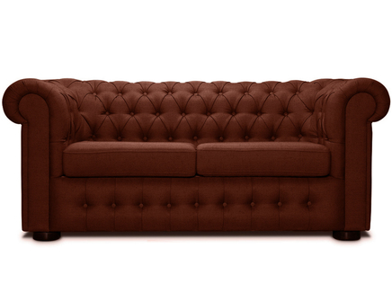Диван-кровать бергамо (modern classic) коричневый 194.0x82.0x91.0 см.