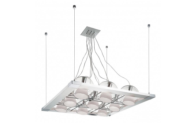 Подвесной светильник CosmoПодвесные светильники<br>Вид цоколя: E14Мощность: 40WКоличество ламп: 9 (нет в комплекте)Материал арматуры: металлМатериал плафонов и подвесок: стекло<br><br>kit: None<br>gender: None