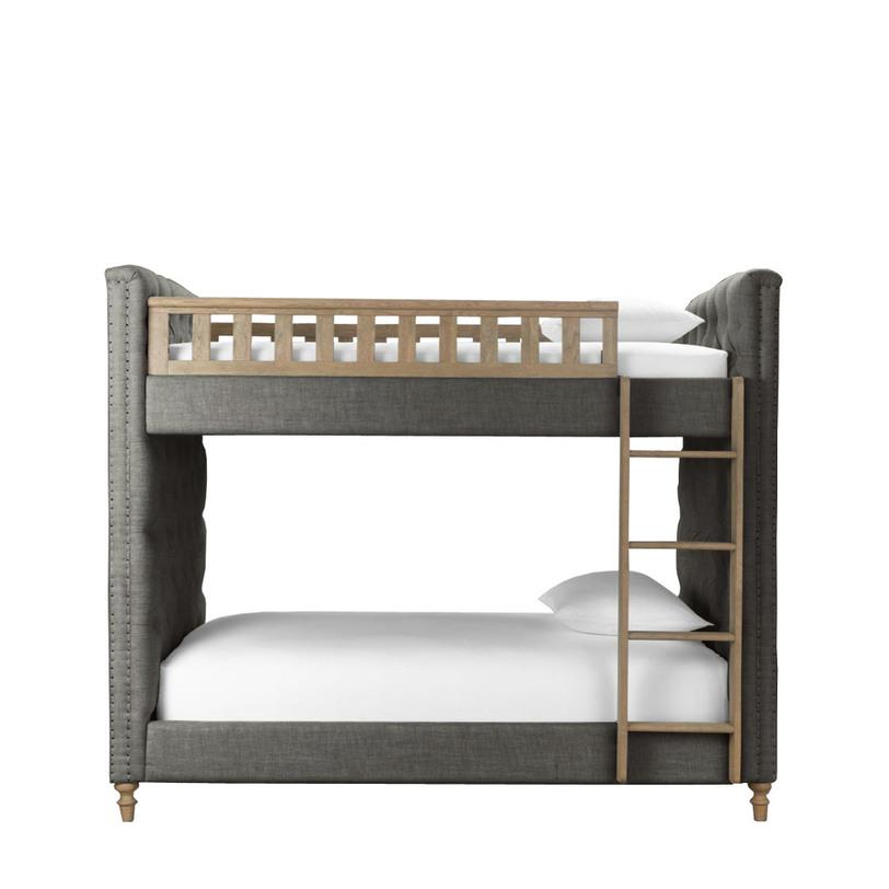 Кровать детская TWINSПодростковые кровати<br>Двухъярусная детская кровать для юных лордов или будущих королев. Надежная конструкция и экологически безопасные материалы – это само собой. Но в дополнение к надежности – поистине шикарная отделка: простежка «капитоне», декор обивочными гвоздиками – как на моделях у взрослых, резные ножки, выточенная загородка и дубовая лесенка. Пока папа отдыхает на стеганом диване «честерфилд», сыновья спят в кровати Twins.&amp;lt;div&amp;gt;&amp;lt;br&amp;gt;&amp;lt;/div&amp;gt;&amp;lt;div&amp;gt;Размер спального места:&amp;lt;/div&amp;gt;&amp;lt;div&amp;gt;Верхнего &amp;amp;nbsp;97х186 &amp;amp;nbsp;см.&amp;lt;/div&amp;gt;&amp;lt;div&amp;gt;Нижнего &amp;amp;nbsp;97х186 &amp;amp;nbsp;см.&amp;lt;/div&amp;gt;&amp;lt;div&amp;gt;Матрас в комплект не входит&amp;amp;nbsp;&amp;lt;/div&amp;gt;&amp;lt;div&amp;gt;&amp;lt;br&amp;gt;&amp;lt;/div&amp;gt;&amp;lt;div&amp;gt;Материал: Серый вельвет (100% cotton), дуб<br>Объем: 1,240 куба<br>Вес: 163 кг&amp;lt;br&amp;gt;&amp;lt;/div&amp;gt;<br><br>Material: Вельвет<br>Width см: 112<br>Depth см: 217<br>Height см: 177