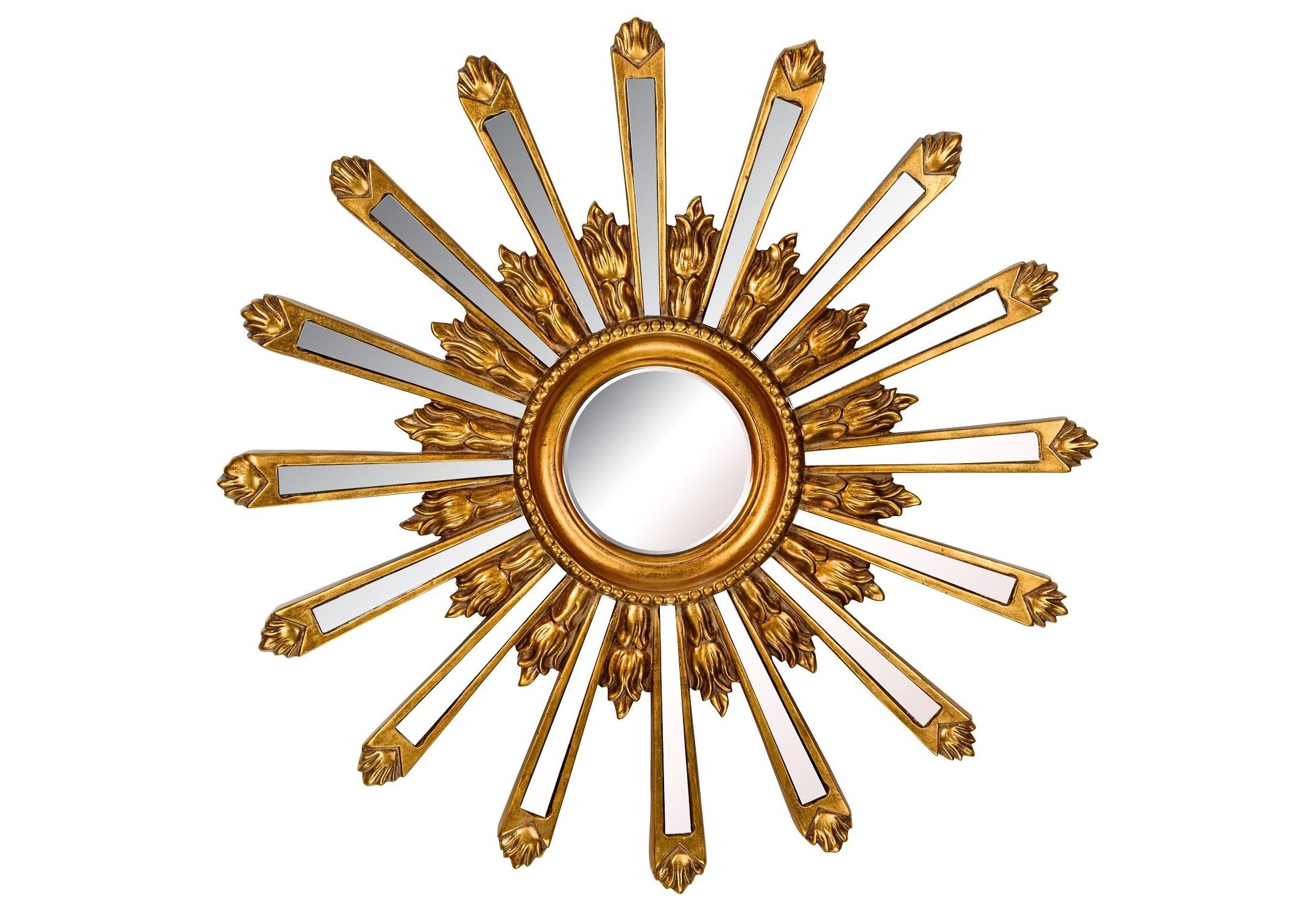 Зеркало Orion GoldНастенные зеркала<br><br><br>Material: Полирезин<br>Depth см: 4<br>Diameter см: 71