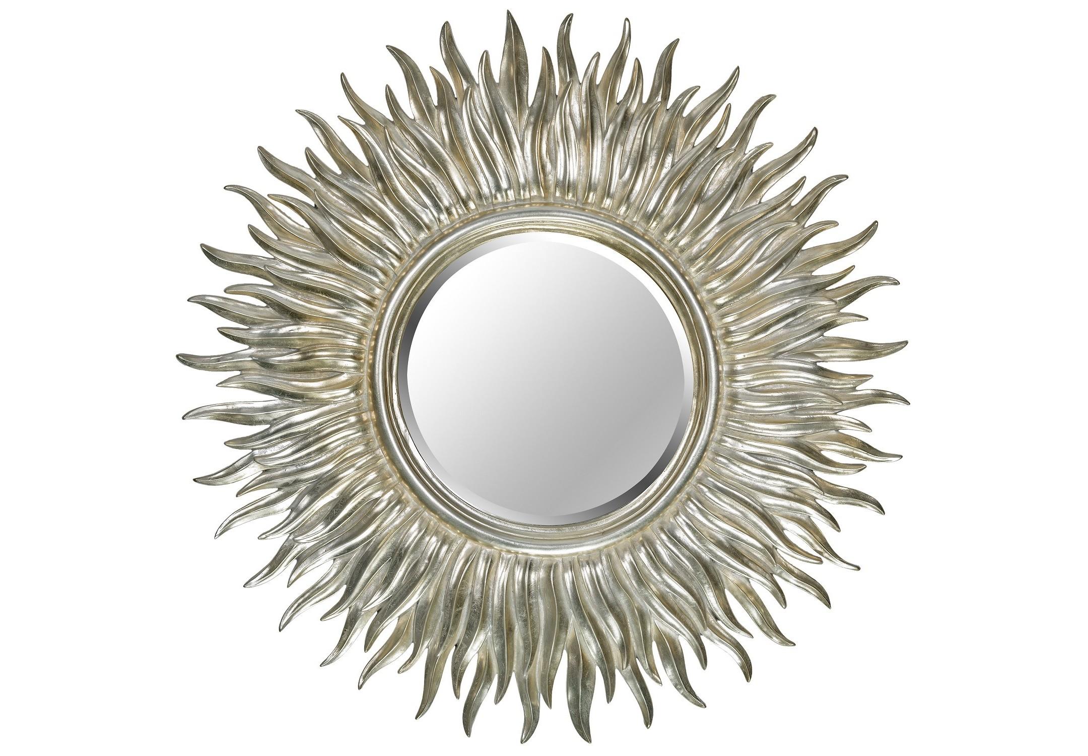 Зеркало Sunshine SilverНастенные зеркала<br><br><br>Material: Полирезин<br>Depth см: 5<br>Diameter см: 99