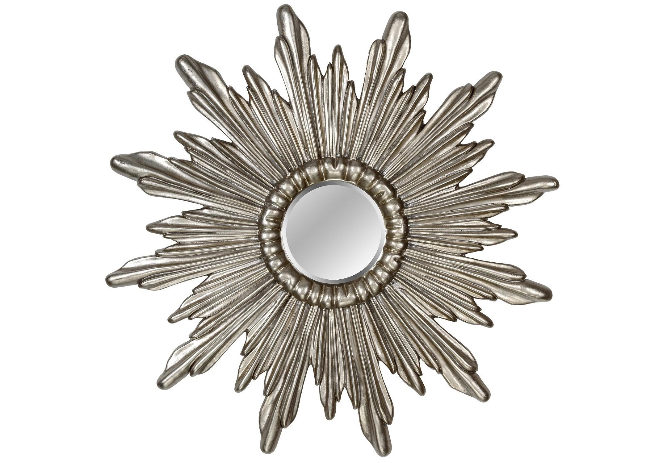 Зеркало Ray SilverНастенные зеркала<br><br><br>Material: Полиуретан<br>Depth см: 4<br>Diameter см: 74.5