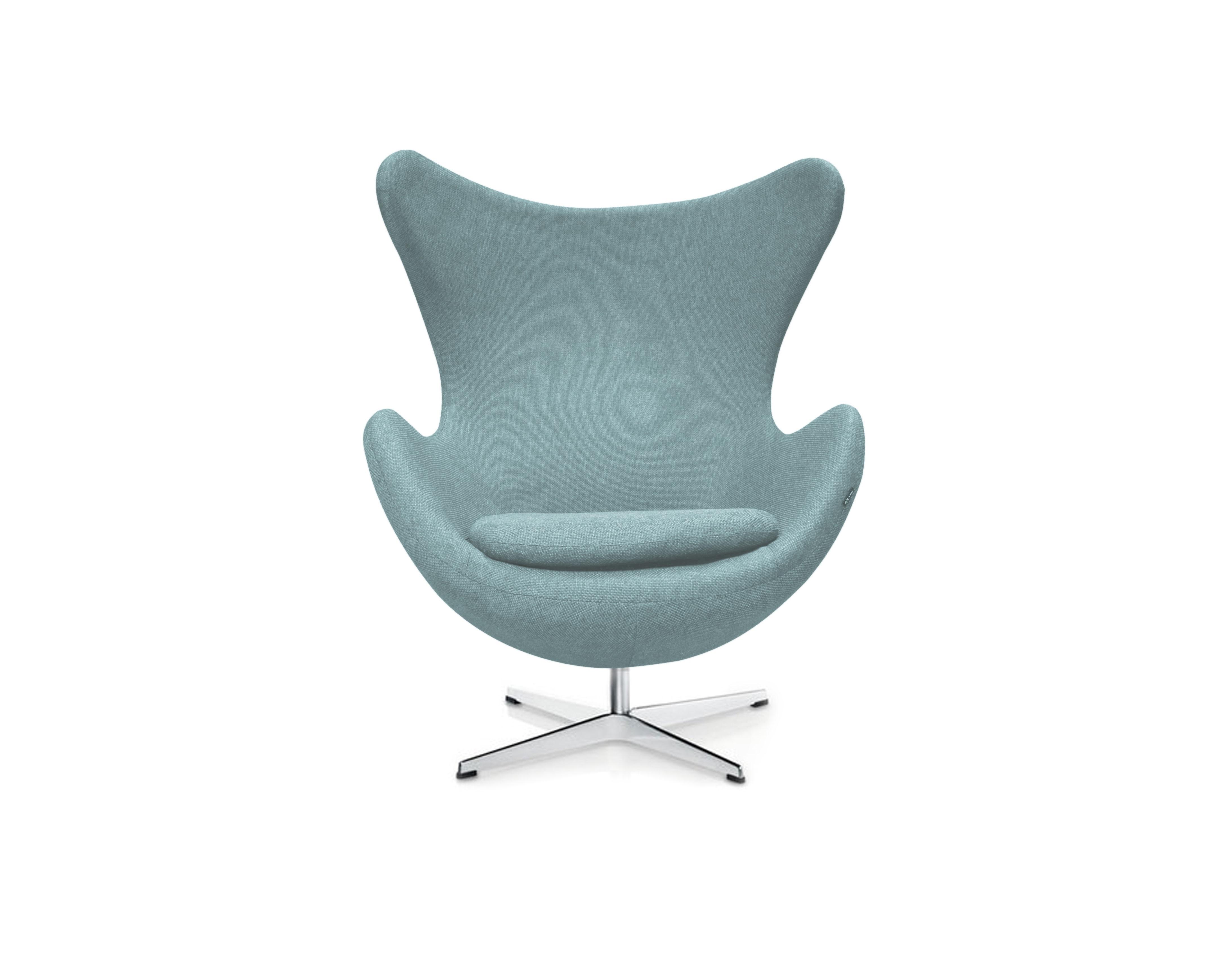 Кресло EggКресла с высокой спинкой<br>Кресло Egg Chair (Яйцо) было создано в 1958 году датским дизайнером Арне Якобсеном специально для интерьеров отеля Radisson SAS в Копенгагене. Кресло обладает исключительной привлекательностью и узнаваемостью во всем мире, занимает особое место в ряду культовой дизайнерской мебели XX века. Оно имеет экстравагантную форму и неординарное исполнение, что позволило ему стать совершенным воплощением классики нового времени. Кресло Egg Chair, выполненное в форме яйца, подарит огромное множество положительных эмоций и заставляет обращать на него внимание. Прочный и массивный каркас из стекловолокна, обтянутый тканью из 100% шерсти, закрепленный на ножке из нержавеющей стали, гарантирует долгий срок службы и устойчивость. Данное кресло — это поистине не стареющая классика в футуристическом исполнении!<br><br>Material: Шерсть<br>Length см: None<br>Width см: 82<br>Depth см: 76<br>Height см: 105