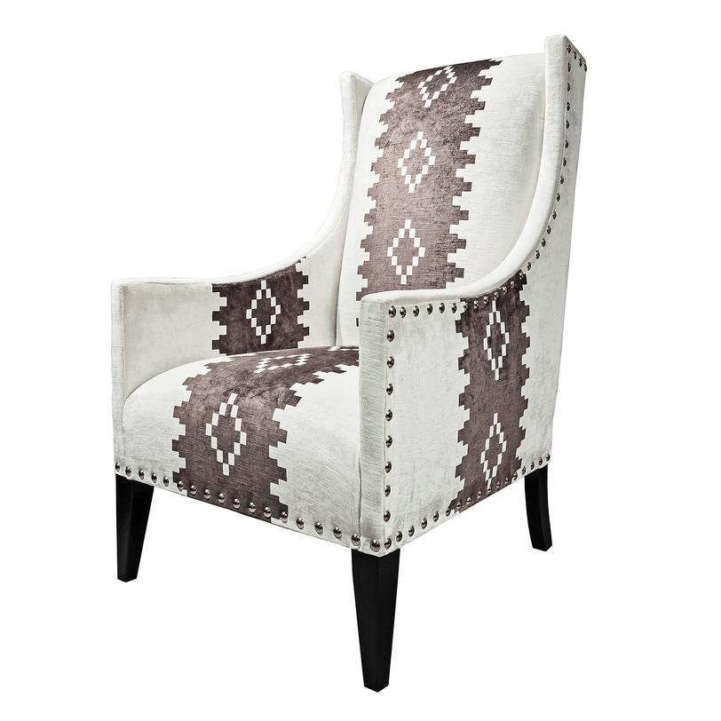 Кресло  ПлутоКресла с высокой спинкой<br>Деревянное кресло с мягкой бархатной обивкой, украшенное декоративными гвоздиками, будто облачено в теплый свитер, от него веет уютом и домашним теплом. Такое кресло идеально впишется как в интерьер квартиры, так и подойдет для коттеджа или загородного дома.<br><br>Material: Бархат<br>Length см: None<br>Width см: 65.0<br>Depth см: 68.0<br>Height см: 114.0<br>Diameter см: None