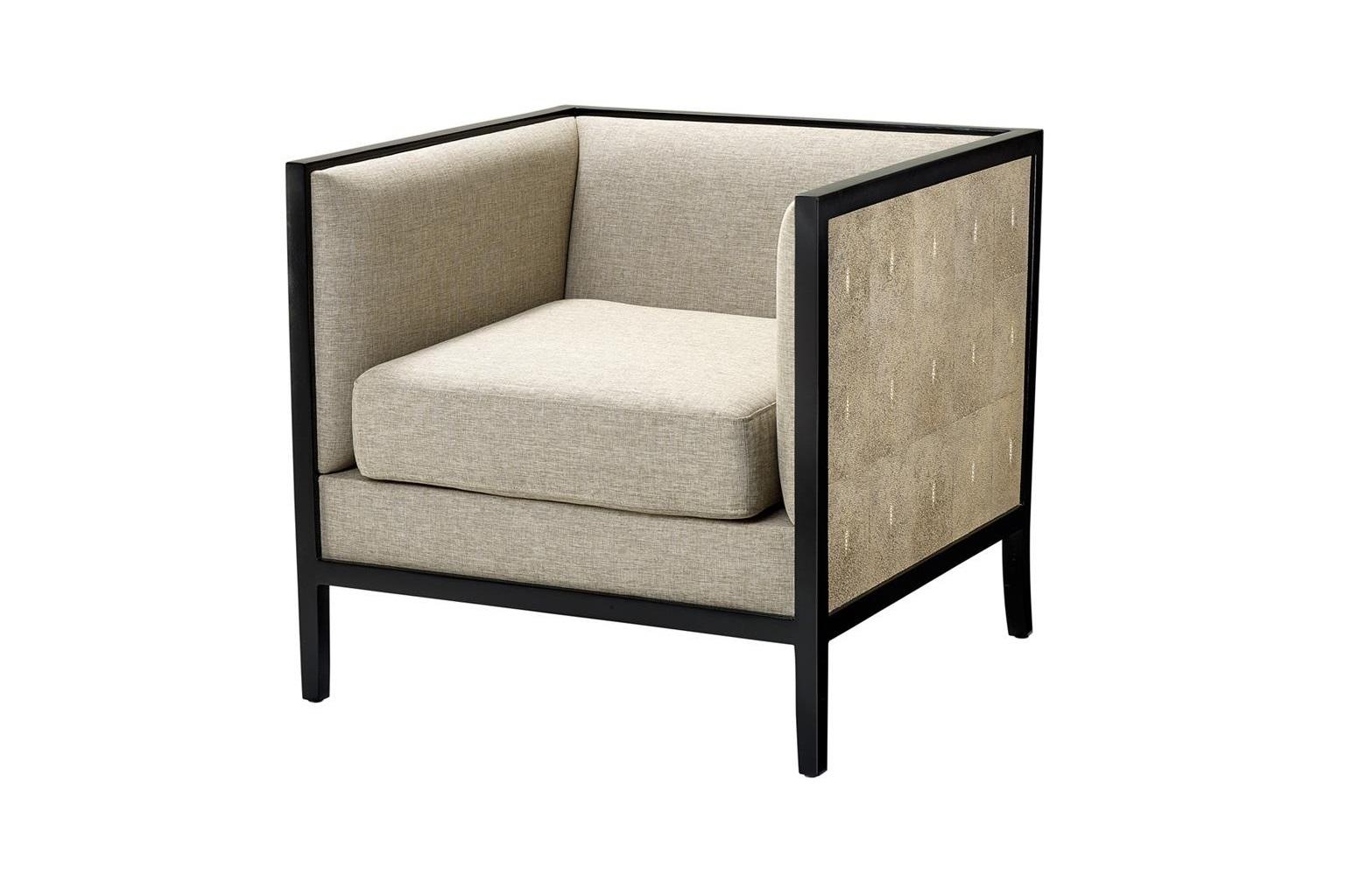 Кресло LauristonИнтерьерные кресла<br>Отделка из кожи акулы.<br><br>Material: Кожа<br>Width см: 70<br>Depth см: 69<br>Height см: 67.5