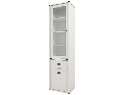 Шкаф с витриной magellan (анрэкс) бежевый 51.6x202.8x40.0 см.