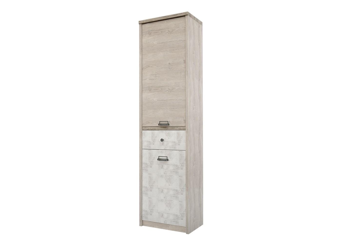Шкаф DieselБельевые шкафы<br>Коллекция для молодежной комнаты DIESEL- это сочетание функциональности и уникальности дизайна. Характерные ручки в стиле &amp;quot;лофт&amp;quot;, вставки из рифленого стекла, используемого на фасадах витрин, оригинальное сочетание цветов фасадов - всё это дает возможность создать стильный и индивидуальный интерьер.&amp;amp;nbsp;<br><br>Material: ДСП<br>Width см: 55.8<br>Depth см: 36.2<br>Height см: 210.4