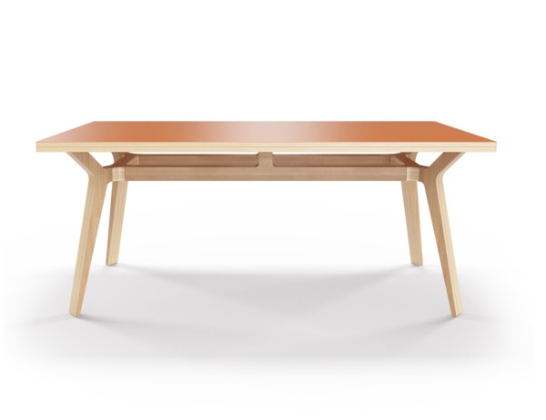 Стол Bor?sОбеденные столы<br>Стол Bor?s — прочная конструкция, которая станет связующим звеном совместного времяпрепровождения. Окрас столешницы в морковный цвет, отделка подстолья шпоном дуба. Сборка не требуется.<br><br>Material: Фанера<br>Ширина см: 240.0<br>Высота см: 75.0<br>Глубина см: 90.0
