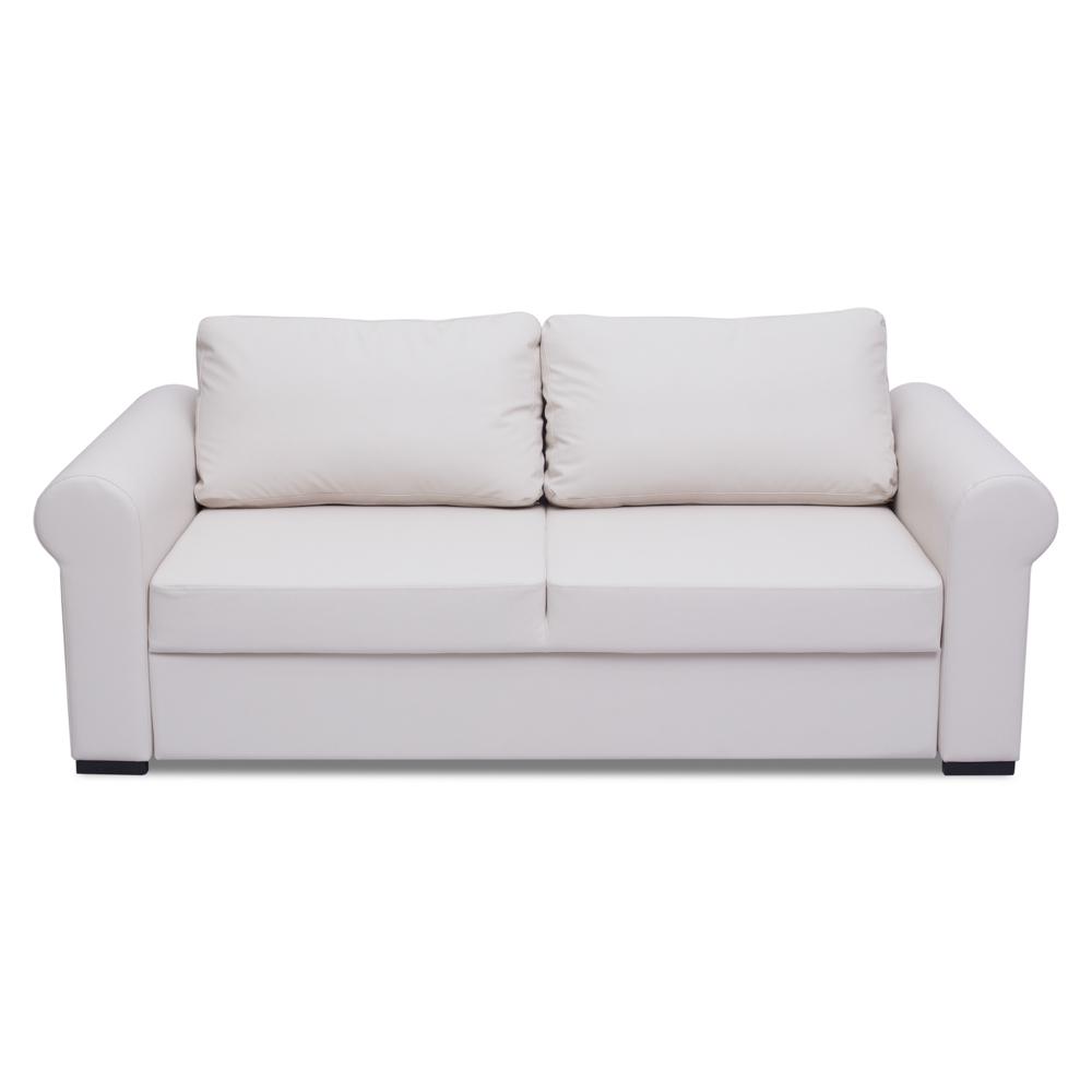 """Диван-кровать ЛюфтенПрямые раскладные диваны<br>Диван Люфтен – это очень комфортный и практичный диван с глубокой посадкой и мягкими подушками спинки. Механизм трансформации – """"выкатной"""", сиденье тянет за собой все остальные части, что позволяет организовать полноценное спальное место с изголовьем у спинки дивана. Прямой диван превращается в комфортную кровать.&amp;amp;nbsp;&amp;lt;div&amp;gt;&amp;lt;br&amp;gt;&amp;lt;/div&amp;gt;&amp;lt;div&amp;gt;Каркас (комбинации дерева, фанеры и ЛДСП).&amp;amp;nbsp;&amp;lt;/div&amp;gt;&amp;lt;div&amp;gt;Для сидячих подушек используют пену различной плотности, а также перо и силиконовое волокно. Для задних подушек есть пять видов наполнения: пена, измельченая пена, пена высокой эластичности, силиконовые волокно.&amp;amp;nbsp;&amp;lt;/div&amp;gt;&amp;lt;div&amp;gt;Материал обивки:  Enzo (Полиэстер (полиэфир) - 100%).&amp;amp;nbsp;&amp;lt;/div&amp;gt;&amp;lt;div&amp;gt;Механизм трансформации – выкатной.&amp;lt;/div&amp;gt;&amp;lt;div&amp;gt;Спальное место -  190*160.&amp;amp;nbsp;&amp;lt;/div&amp;gt;<br><br>Material: Кожа<br>Width см: 226<br>Depth см: 105<br>Height см: 72"""