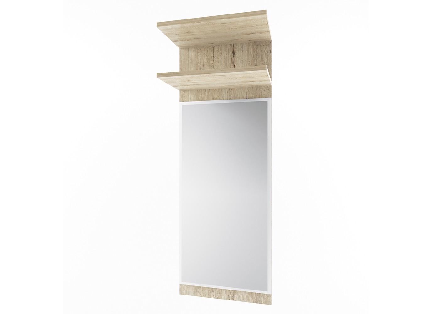 Зеркало OscarНастенные зеркала<br>Коллекция OSCAR напрямую связана с современным европейским дизайном. Использование плиты дуб санремо в стиле кантри в сочетании с современными формами придаст Вашему интерьеру  неповторимый характер и дизайн. Яркое отличие коллекции OSCAR - современный стиль и хорошо продуманный функционал.&amp;amp;nbsp;<br><br>Material: ДСП<br>Ширина см: 40<br>Высота см: 110<br>Глубина см: 25
