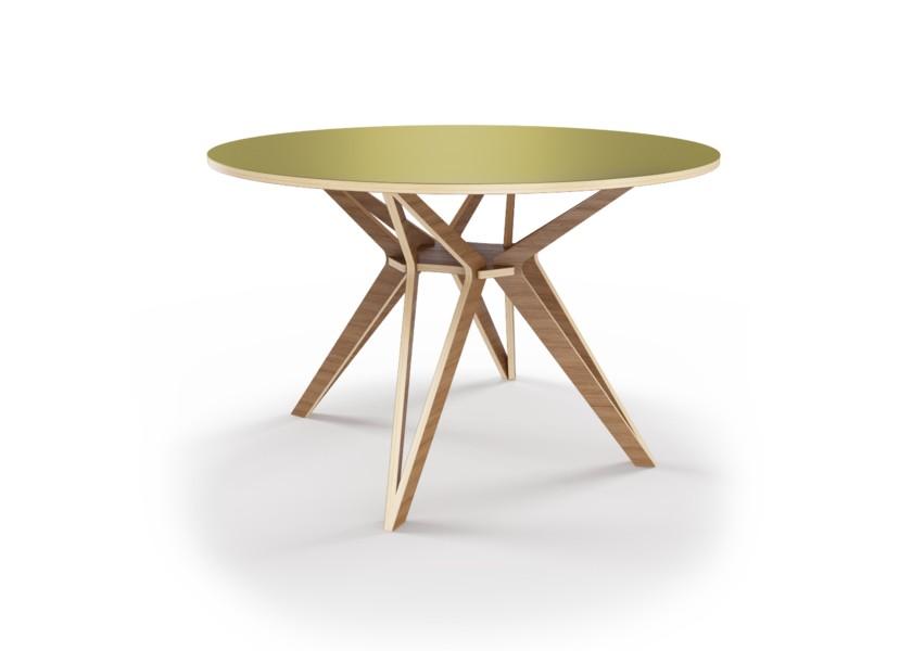 Стол HagforsОбеденные столы<br>Hagfors – это стол, необычный дизайн которого создаст изящный акцент в вашем интерьере. Окрас столешницы в оливковый цвет, отделка подстолья шпоном ореха.&amp;lt;div&amp;gt;&amp;lt;br&amp;gt;&amp;lt;/div&amp;gt;&amp;lt;div&amp;gt;&amp;amp;nbsp;Возможен в диаметрах 60, 90, 100, 120 и 148см.&amp;lt;/div&amp;gt;<br><br>Material: Фанера<br>Height см: 75<br>Diameter см: 90