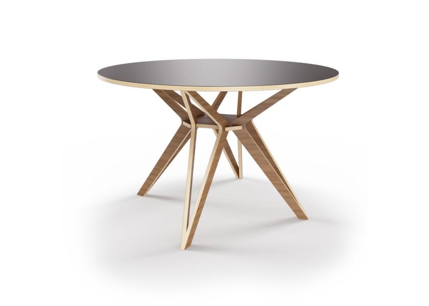 Стол HagforsОбеденные столы<br>Hagfors – это стол, необычный дизайн которого создаст изящный акцент в вашем интерьере. Окрас столешницы в графитовый цвет, отделка подстолья шпоном ореха.&amp;amp;nbsp;&amp;lt;div&amp;gt;&amp;lt;br&amp;gt;&amp;lt;/div&amp;gt;&amp;lt;div&amp;gt;Возможен в диаметрах 60, 90, 100, 120 и 148см.&amp;lt;/div&amp;gt;<br><br>Material: Фанера<br>Высота см: 75.0