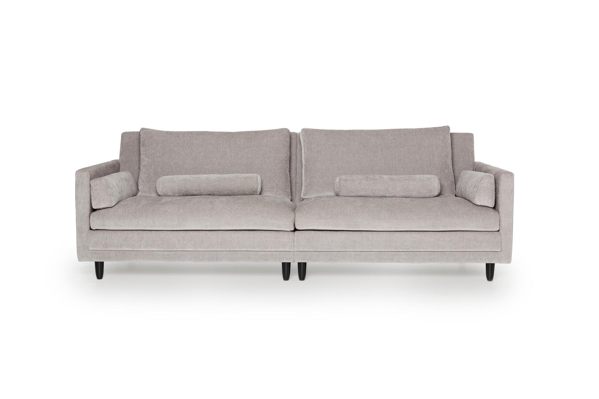 Диван БодоТрехместные диваны<br>Диван Бодо – комфорт и шик для ценителей диванов. Мягкие подушки и эргономичные пропорции подарят незабываемый отдых. А стильный дизайн и благородные ткани будут долгие годы радовать глаз.&amp;amp;nbsp;&amp;lt;div&amp;gt;&amp;lt;br&amp;gt;&amp;lt;/div&amp;gt;&amp;lt;div&amp;gt;Не разбирается. Каркас (комбинации дерева, фанеры и ЛДСП).&amp;amp;nbsp;&amp;lt;/div&amp;gt;&amp;lt;div&amp;gt;Для сидячих подушек используют пену различной плотности, а также перо и силиконовое волокно.&amp;amp;nbsp;&amp;lt;/div&amp;gt;&amp;lt;div&amp;gt;Для задних подушек есть пять видов наполнения: пена, измельченая пена, пена высокой эластичности, силиконовые волокно.&amp;amp;nbsp;&amp;lt;/div&amp;gt;&amp;lt;div&amp;gt;Материал обивки: Can 3 grey.&amp;amp;nbsp;&amp;lt;/div&amp;gt;<br><br>Material: Текстиль<br>Ширина см: 256<br>Высота см: 86<br>Глубина см: 101