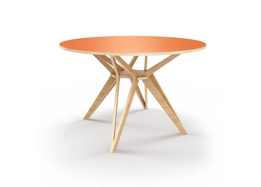Стол HagforsОбеденные столы<br>Hagfors – это стол, необычный дизайн которого создаст изящный акцент в вашем интерьере. Окрас столешницы в морковный цвет, отделка подстолья шпоном дуба.&amp;amp;nbsp;&amp;lt;div&amp;gt;&amp;lt;br&amp;gt;&amp;lt;/div&amp;gt;&amp;lt;div&amp;gt;Возможен в диаметрах 60, 90, 100, 120 и 148см.&amp;lt;/div&amp;gt;<br><br>Material: Фанера<br>Height см: 75<br>Diameter см: 90