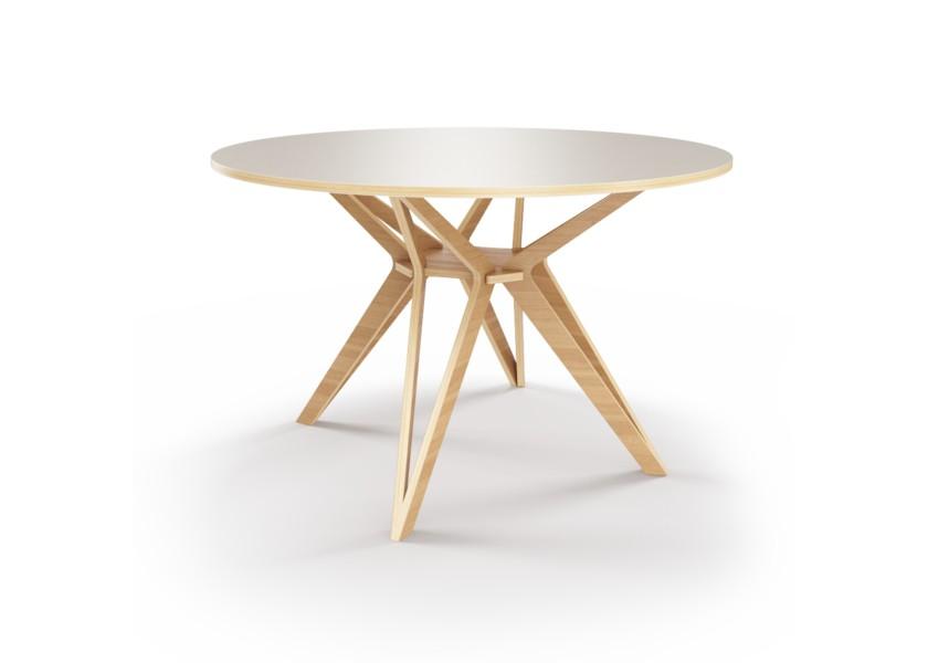 Стол HagforsОбеденные столы<br>Hagfors – это стол, необычный дизайн которого создаст изящный акцент в вашем интерьере. Окрас столешницы в молочный цвет, отделка подстолья шпоном дуба.&amp;amp;nbsp;&amp;lt;div&amp;gt;&amp;lt;br&amp;gt;&amp;lt;/div&amp;gt;&amp;lt;div&amp;gt;Возможен в диаметрах 60, 90, 100, 120 и 148см.&amp;lt;/div&amp;gt;<br><br>Material: Фанера<br>Высота см: 75