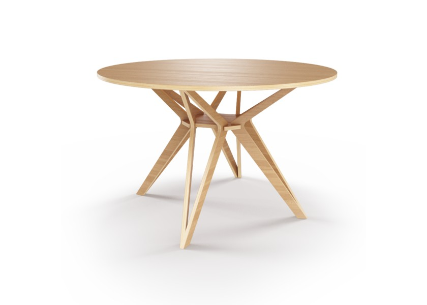 Стол HagforsОбеденные столы<br>Hagfors – это стол, необычный дизайн которого создаст изящный акцент в вашем интерьере. Отделка шпоном дуба.&amp;lt;div&amp;gt;&amp;lt;br&amp;gt;&amp;lt;/div&amp;gt;&amp;lt;div&amp;gt;Возможен в диаметрах 60, 90, 100, 120 и 148см.&amp;lt;/div&amp;gt;<br><br>Material: Фанера<br>Высота см: 75.0