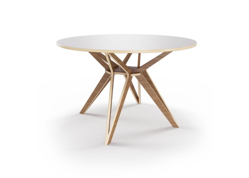 Стол HagforsОбеденные столы<br>Hagfors – это стол, необычный дизайн которого создаст изящный акцент в вашем интерьере. Окрас столешницы в молочный цвет, отделка подстолья шпоном ореха.&amp;amp;nbsp;&amp;lt;div&amp;gt;&amp;lt;br&amp;gt;&amp;lt;/div&amp;gt;&amp;lt;div&amp;gt;Возможен в диаметрах 60, 90, 100, 120 и 148см.&amp;lt;/div&amp;gt;<br><br>Material: Фанера<br>Height см: 75<br>Diameter см: 60