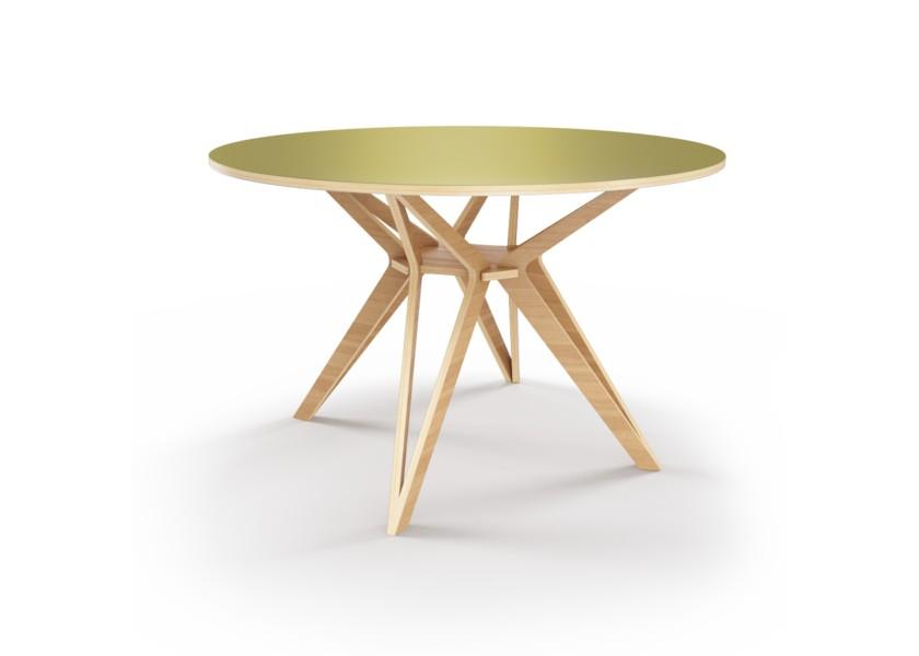 Стол HagforsОбеденные столы<br>Hagfors – это стол, необычный дизайн которого создаст изящный акцент в вашем интерьере. Окрас столешницы в оливковый цвет, отделка подстолья шпоном дуба.&amp;lt;div&amp;gt;&amp;lt;br&amp;gt;&amp;lt;/div&amp;gt;&amp;lt;div&amp;gt;Возможен в диаметрах 60, 90, 100, 120 и 148см.&amp;lt;/div&amp;gt;<br><br>Material: Фанера<br>Height см: 75<br>Diameter см: 60