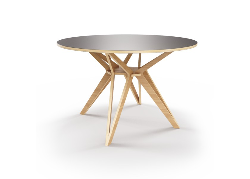 Стол HagforsОбеденные столы<br>Hagfors – это стол, необычный дизайн которого создаст изящный акцент в вашем интерьере. Окрас столешницы в графитовый цвет, отделка подстолья шпоном дуба.&amp;lt;div&amp;gt;&amp;lt;br&amp;gt;&amp;lt;/div&amp;gt;&amp;lt;div&amp;gt;Возможен в диаметрах 60, 90, 100, 120 и 148см.&amp;lt;/div&amp;gt;<br><br>Material: Фанера<br>Height см: 75<br>Diameter см: 60