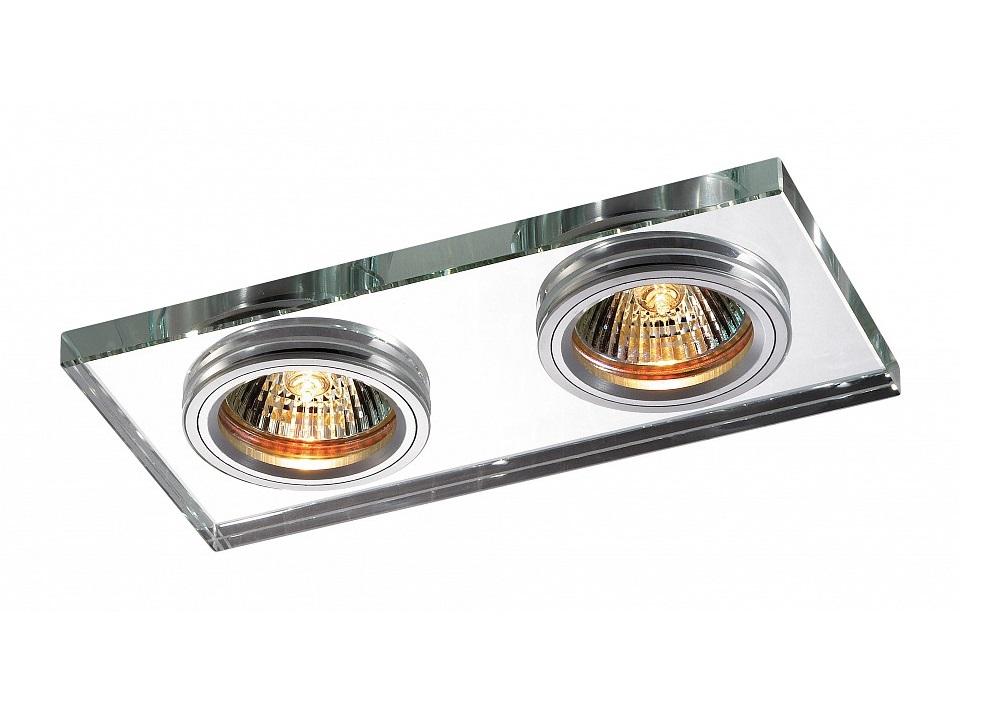 Встраиваемый светильник MirrorТочечный свет<br>&amp;lt;div&amp;gt;Вид цоколя: GX5.3&amp;lt;/div&amp;gt;&amp;lt;div&amp;gt;Мощность: 50W&amp;lt;/div&amp;gt;&amp;lt;div&amp;gt;Количество ламп: 2 (нет в комплекте)&amp;lt;/div&amp;gt;<br><br>Material: Металл<br>Ширина см: 18<br>Высота см: 2<br>Глубина см: 9
