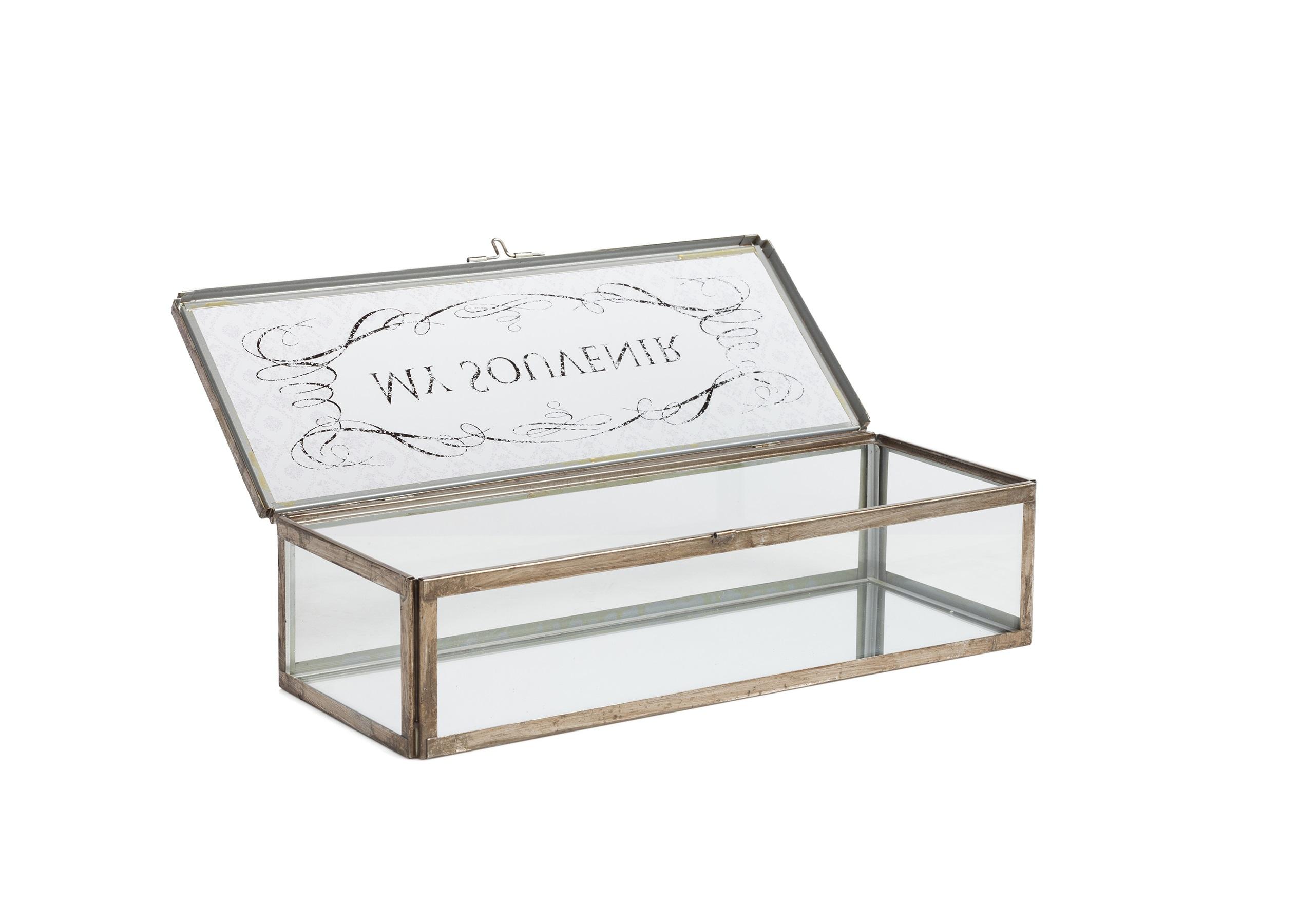 Коробка для ювелирных украшений AlanaШкатулки<br>&amp;lt;div&amp;gt;Материал: Стекло, Металл&amp;lt;/div&amp;gt;&amp;lt;div&amp;gt;&amp;lt;br&amp;gt;&amp;lt;/div&amp;gt;<br><br>Material: Металл<br>Ширина см: 15<br>Высота см: 11<br>Глубина см: 40