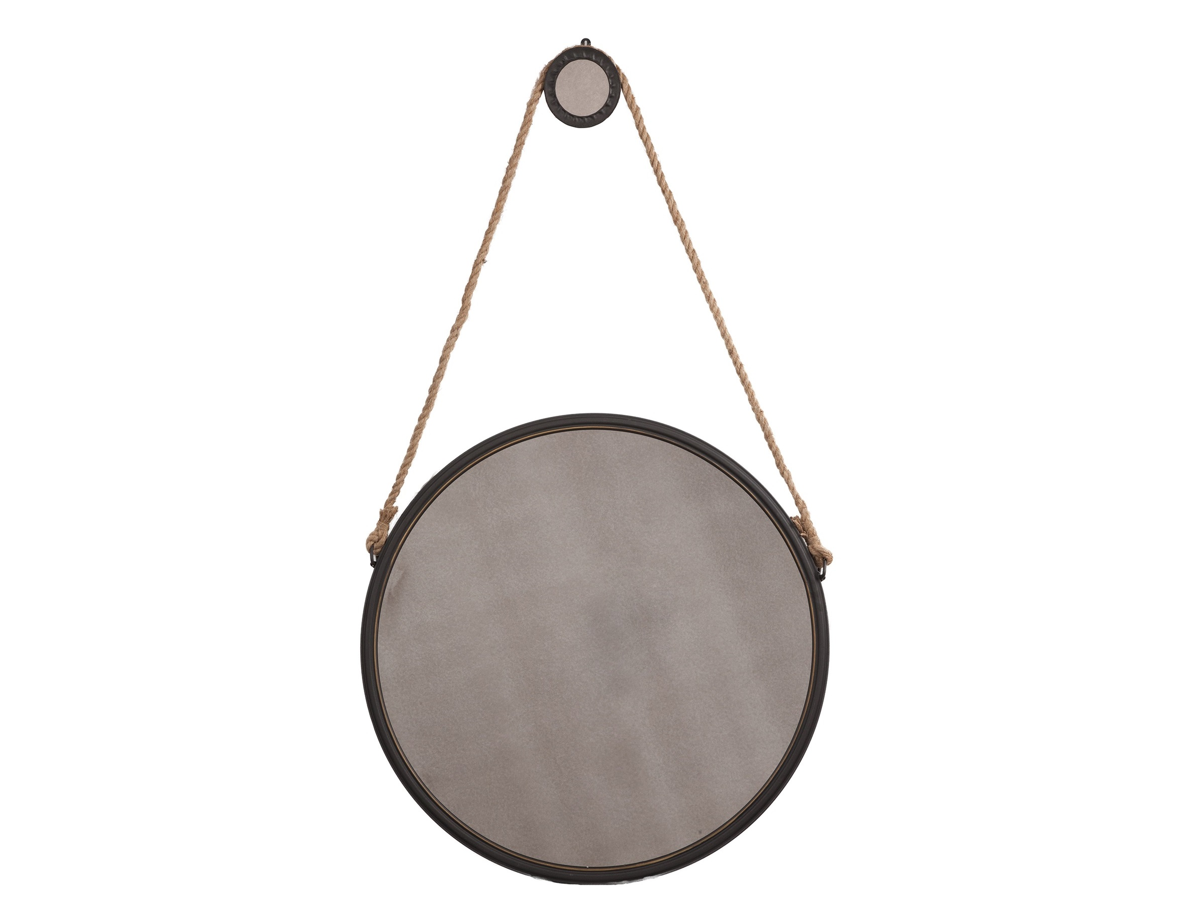 Зеркало Iron and Rope RoundНастенные зеркала<br>Материал: Металл, Экокожа<br><br>Material: Металл<br>Length см: None<br>Width см: None<br>Depth см: 4,5<br>Height см: 75<br>Diameter см: 75