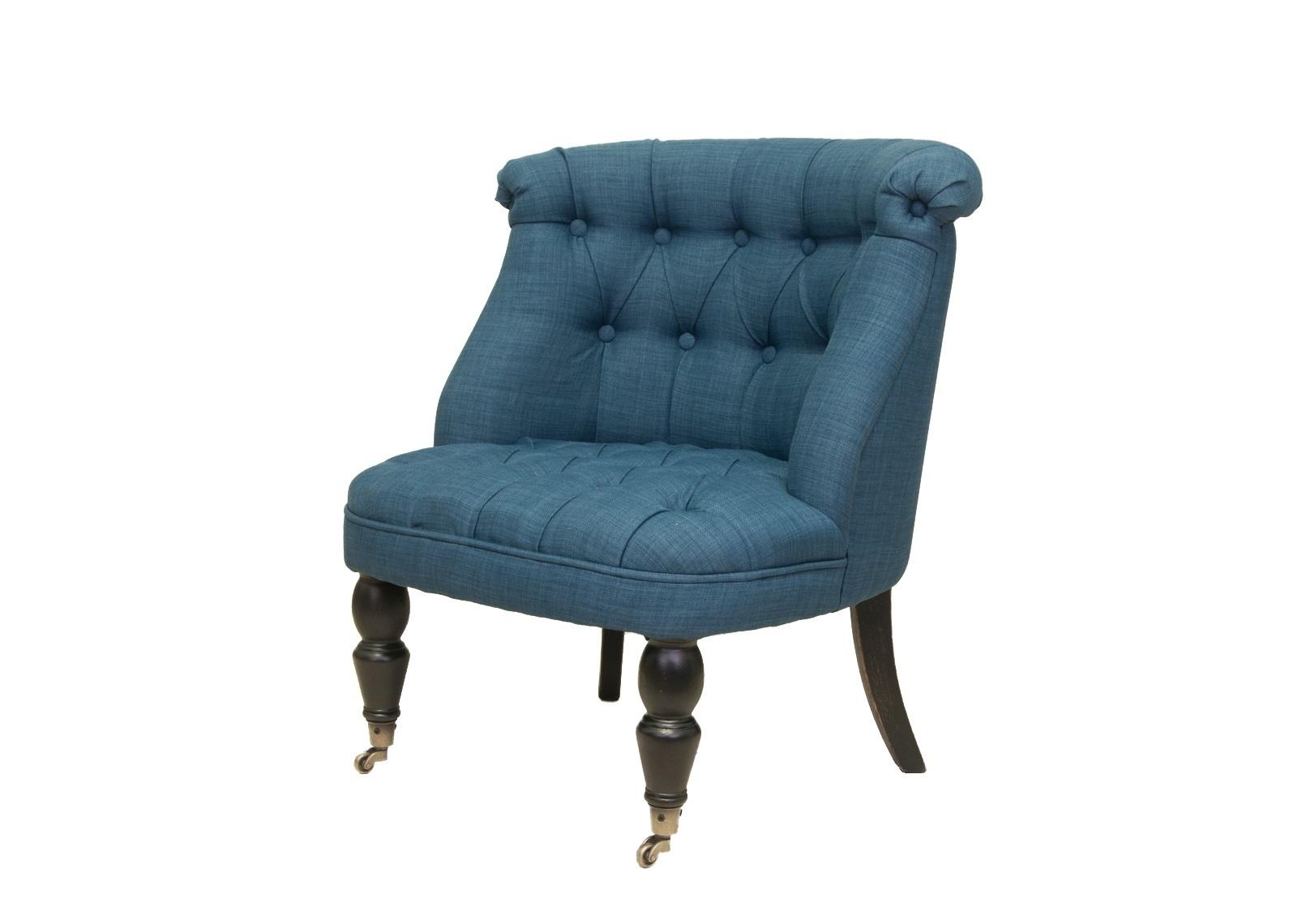 Кресло Aviana indigoПолукресла<br>&amp;lt;div&amp;gt;Аккуратное кресло в класссическом стиле покорит любого! Невысокая закругленная спинка эффектно украшенная обьемной стежкой и широкое мягкое сидение делают это кресло необычайно комфортным. Изделие сделано из натурального дуба, резные передние ножки оснащены небольшими колесиками для легкости перемещения. Такое милое кресло просто создано для того, чтобы дарить Вам тепло и уют.&amp;amp;nbsp;&amp;lt;/div&amp;gt;&amp;lt;div&amp;gt;&amp;lt;br&amp;gt;&amp;lt;/div&amp;gt;<br><br>Material: Лен<br>Width см: 70<br>Depth см: 70<br>Height см: 72