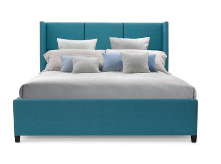 Мягкая кровать boston (myfurnish) бирюзовый 183.0x130.0x212.0 см.