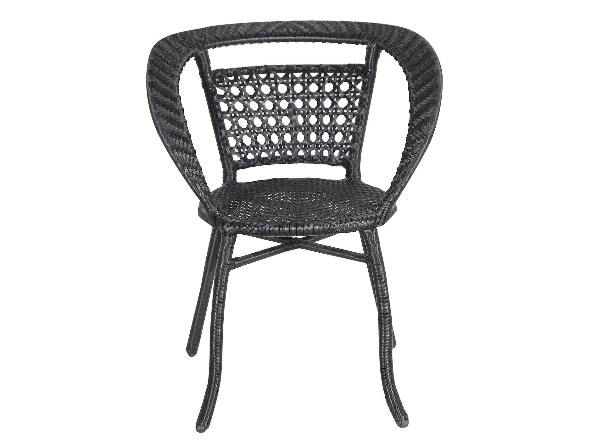 Кресло CALCIСтулья для сада<br>Кресло выполнено из основательного алюминиевого каркаса вручную оплетенного синтетическим волокном,  обладает устойчивостью к суровым климатическими условиями, резким перепадам температуры, дождю и УФ-лучам.  Выполнени в плетении венге, очень хорошо подходит на балкон и в маленькие помещения.<br><br>Material: Искусственный ротанг<br>Ширина см: 50<br>Высота см: 72<br>Глубина см: 55