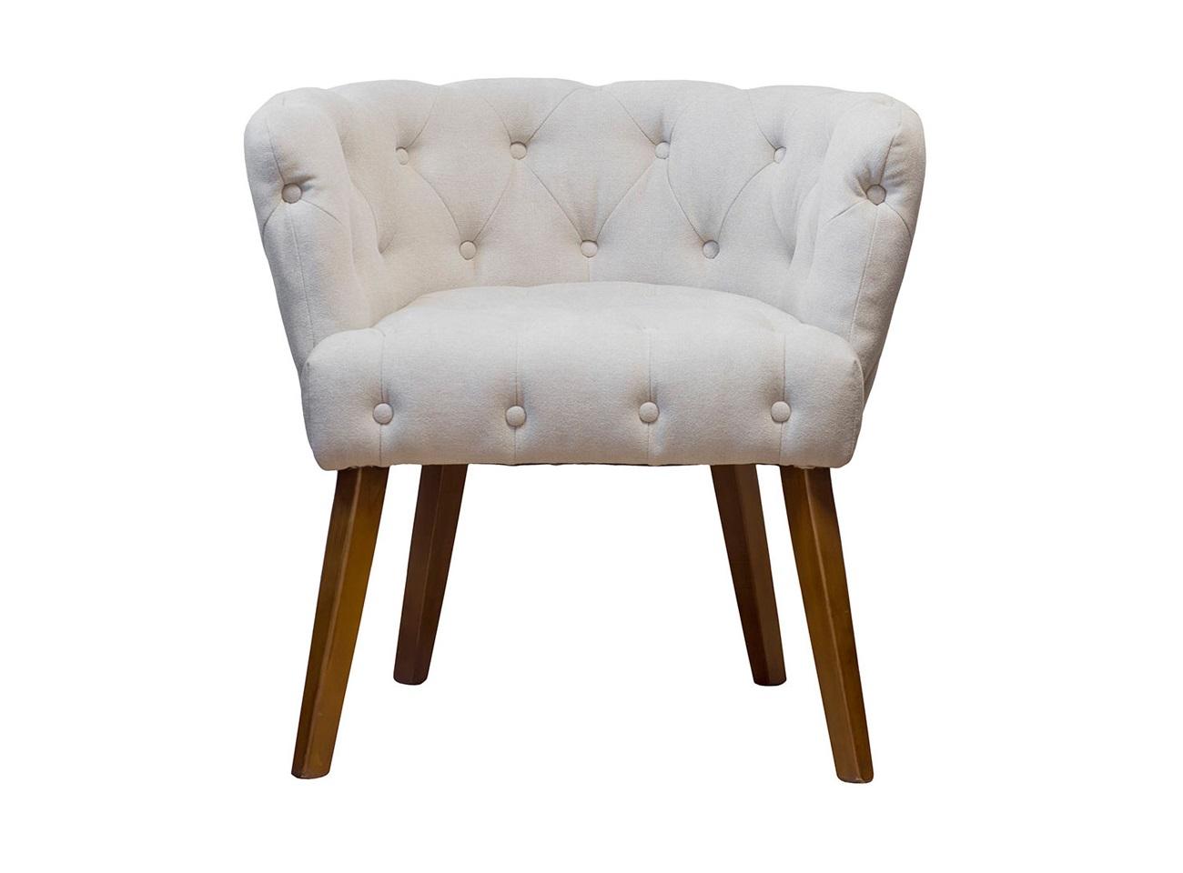 КреслоПолукресла<br>&amp;lt;div&amp;gt;Кресло светло-бежевого цвета – пример гармоничного сочетания прямых деревянных ножек, присущих современным стилям, и классической каретной стяжки. Эта модель способна интегрироваться в любой интерьер. Она будет особенно уместна в эклектичном пространстве. Прочный деревянный каркас и износостойкий велюр обеспечивают длительный срок эксплуатации. Простой уход сохранит эстетичный внешний вид данного предмета интерьера на протяжении многих лет. Благодаря продуманному дизайну и качественному наполнителю, стильное мягкое бежевое кресло подарит абсолютный комфорт использования. Оцените качество изготовления и конструктивные особенности модели при помощи фото.&amp;lt;br&amp;gt;&amp;lt;/div&amp;gt;<br><br>Material: Велюр<br>Length см: None<br>Width см: 74<br>Depth см: 64<br>Height см: 75<br>Diameter см: None