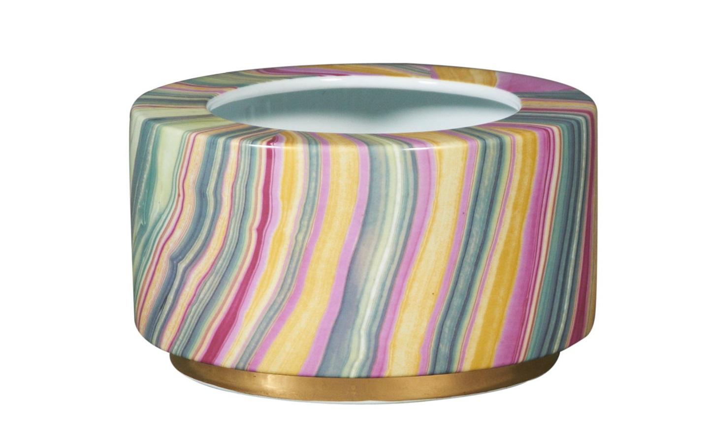 Ваза настольная RainbowДекоративные чаши<br><br><br>Material: Керамика<br>Width см: 24<br>Depth см: 24<br>Height см: 16
