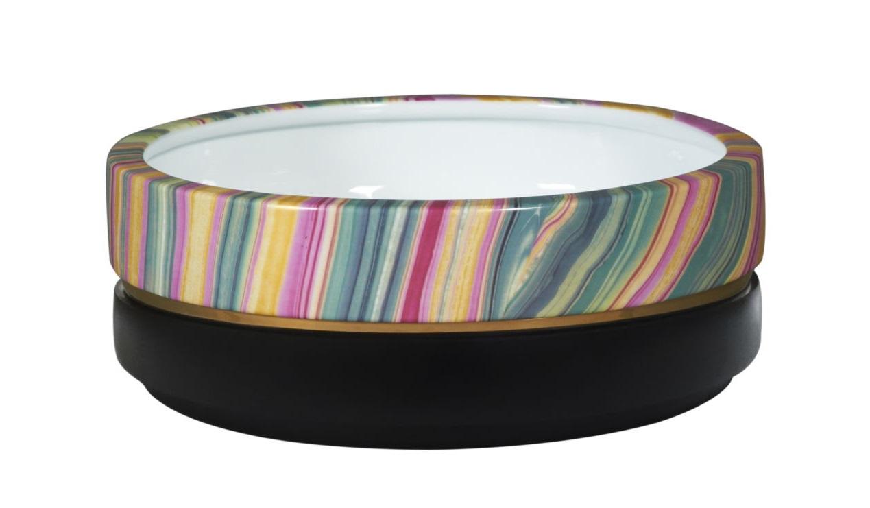 Ваза настольная RainbowВазы<br><br><br>Material: Керамика<br>Ширина см: 30<br>Высота см: 10<br>Глубина см: 30