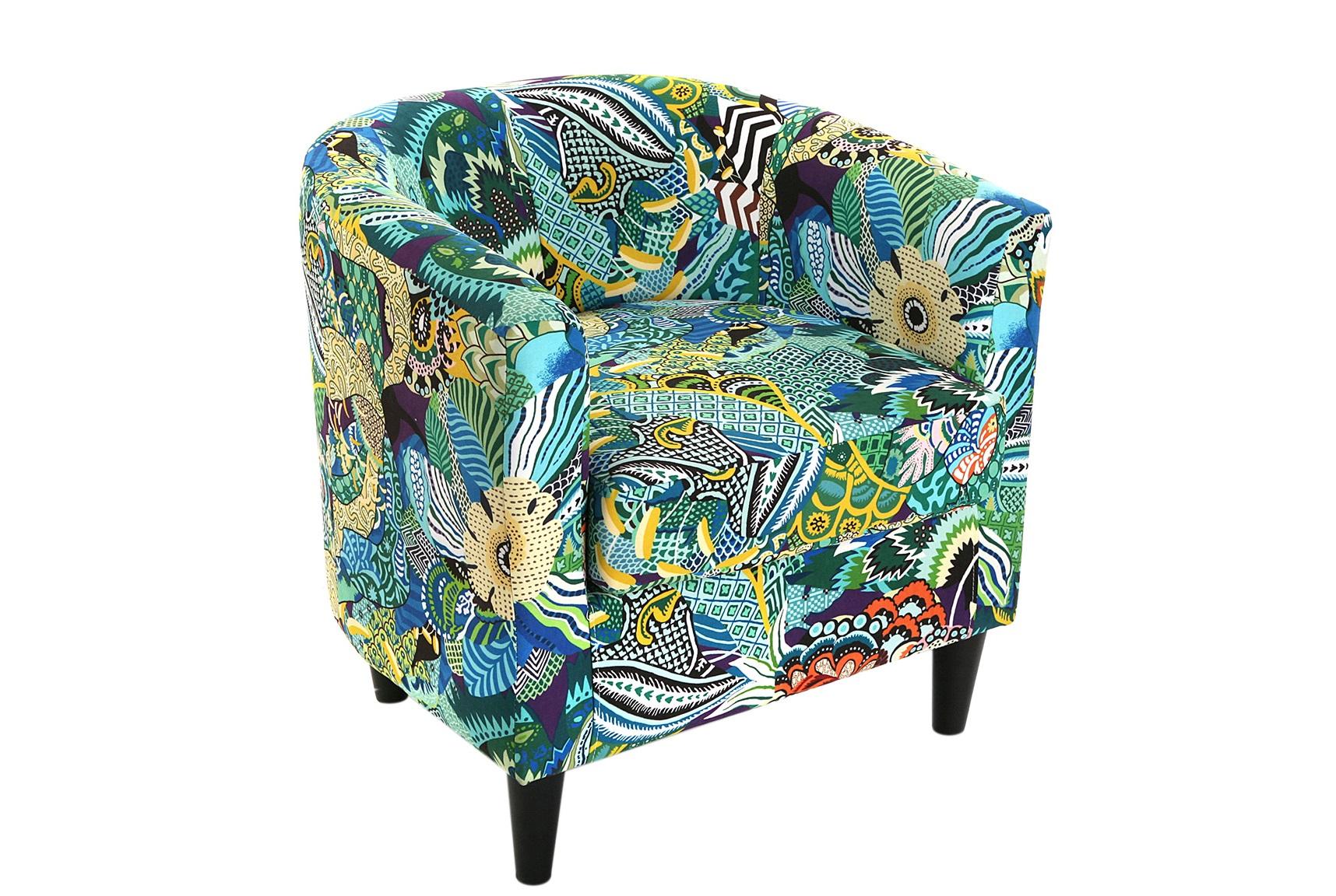 Кресло Tropical PatchworkИнтерьерные кресла<br><br><br>Material: Текстиль<br>Length см: None<br>Width см: 62<br>Depth см: 64<br>Height см: 56