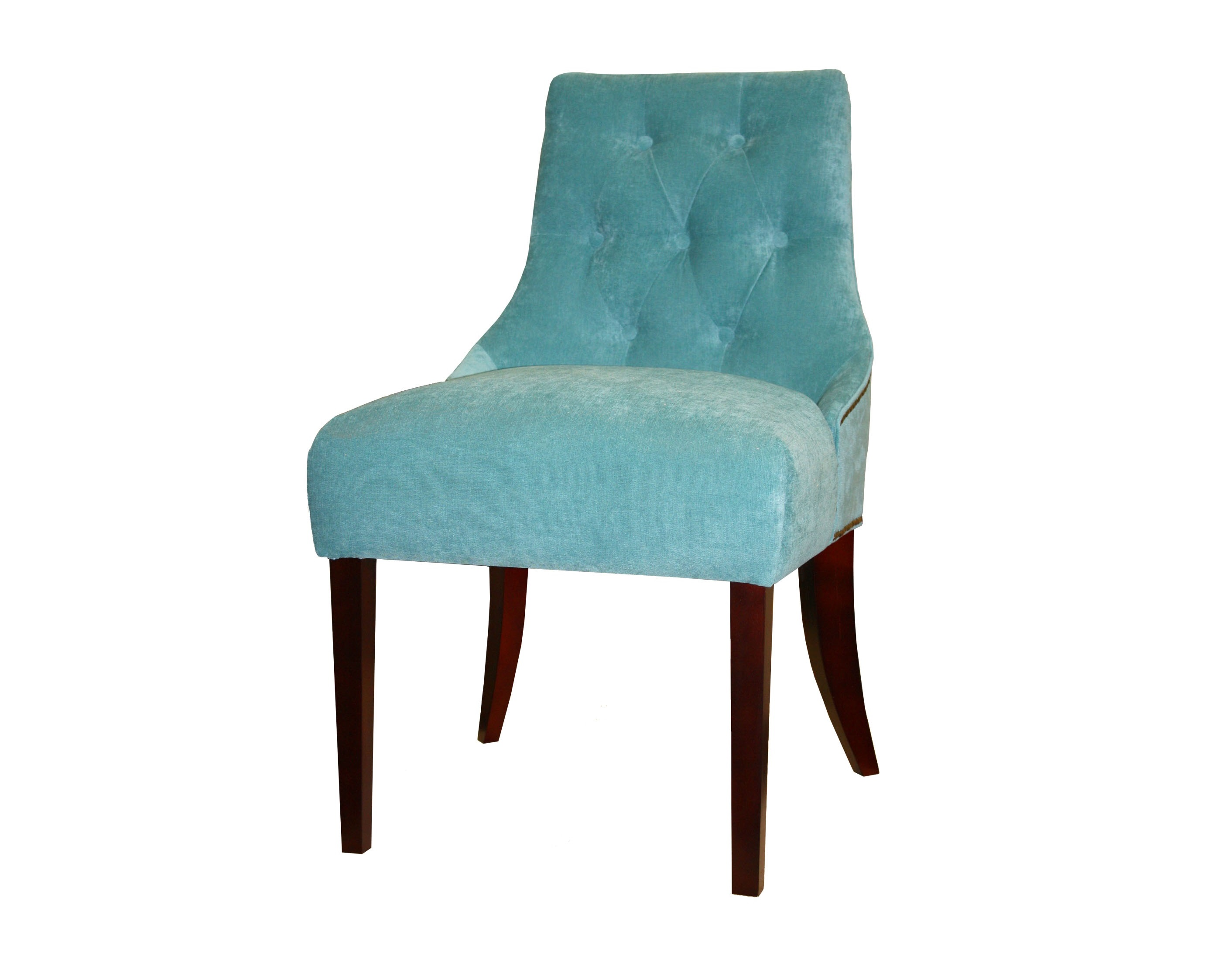 Стул МессиноПолукресла<br>Такие стулья без подлокотников просто необходимы, если в столовой стоит круглый стол – их можно поставить вплотную друг к другу. Это выглядит органично и экономит пространство. Спинка изнутри украшена стежкой капитоне, снаружи – гвоздиками цвета старого золота. Изящные ножки выточены из массива бука, в основании каждой – фетровый подпятник, чтобы мебель передвигалась бесшумно.<br><br>Material: Текстиль<br>Ширина см: 63<br>Высота см: 95<br>Глубина см: 56