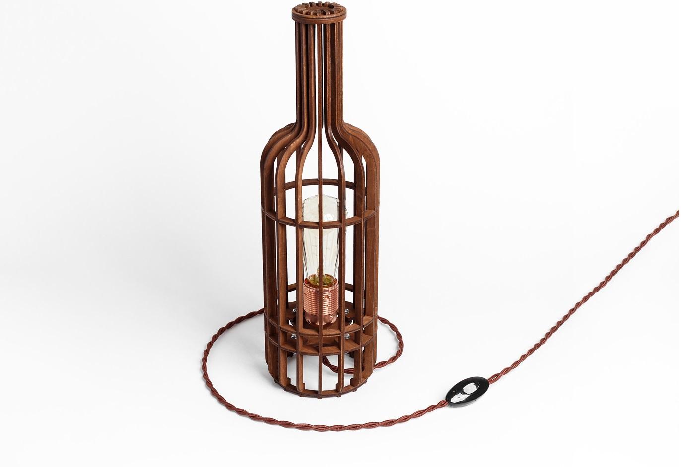 Деревянный светильник Бутылка ВинаДекоративные лампы<br>&amp;lt;div&amp;gt;&amp;lt;div&amp;gt;Вид цоколя: E27&amp;lt;/div&amp;gt;&amp;lt;div&amp;gt;Мощность: 60W&amp;lt;/div&amp;gt;&amp;lt;div&amp;gt;Количество ламп: 1 (нет в комплекте)&amp;lt;/div&amp;gt;&amp;lt;/div&amp;gt;<br><br>Material: Дерево<br>Length см: None<br>Width см: None<br>Height см: 44<br>Diameter см: 13